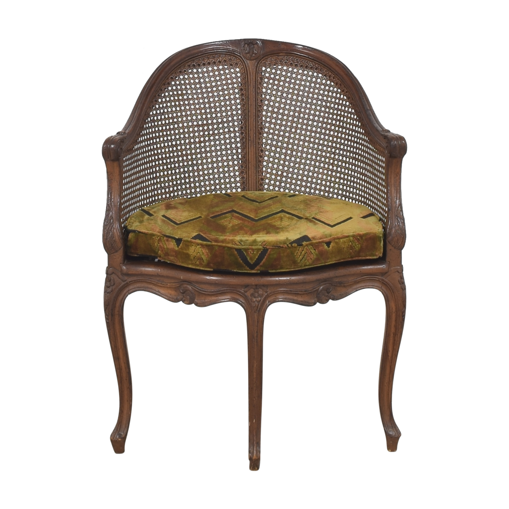 Vintage French-Style Corner Chair dimensions