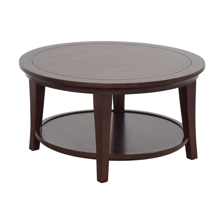 Pottery Barn Pottery Barn Metropolitan Round Coffee Table second hand