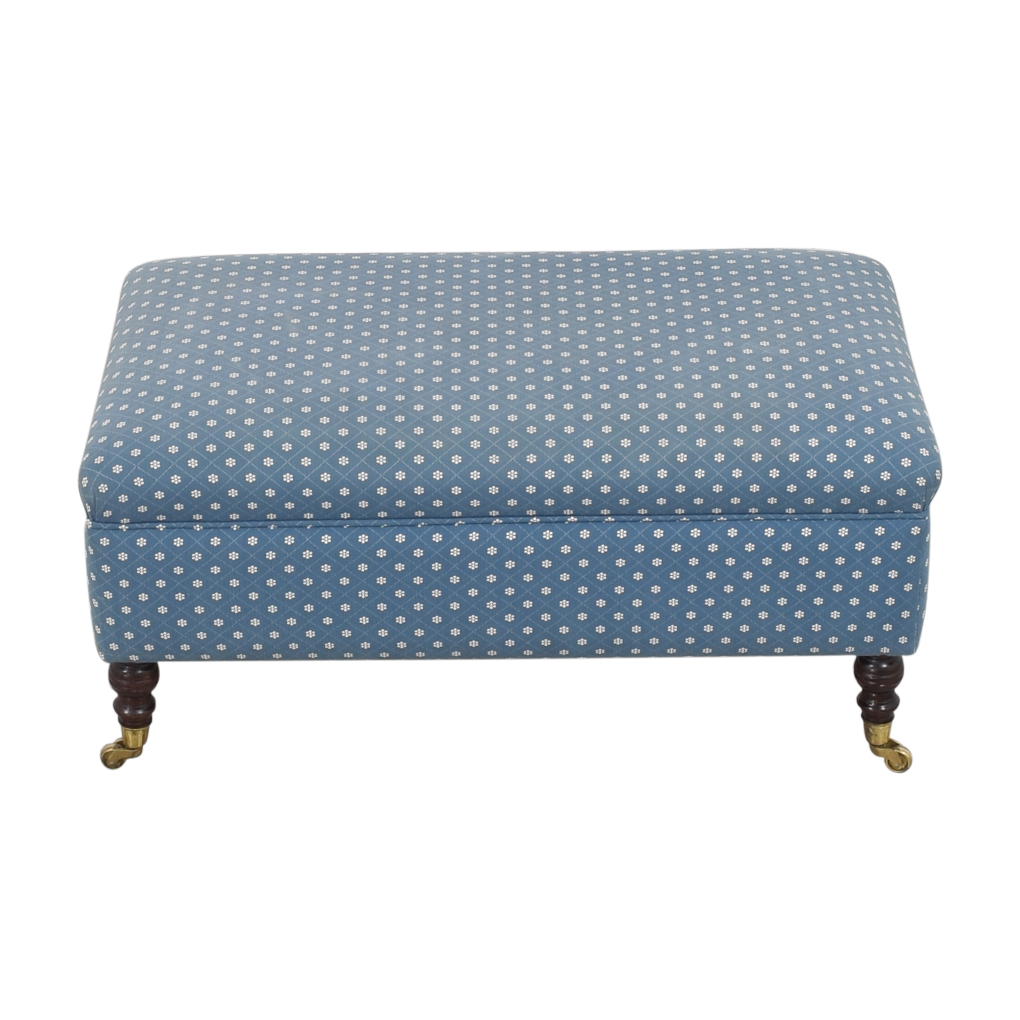 Rectangular Ottoman with Casters / Chairs