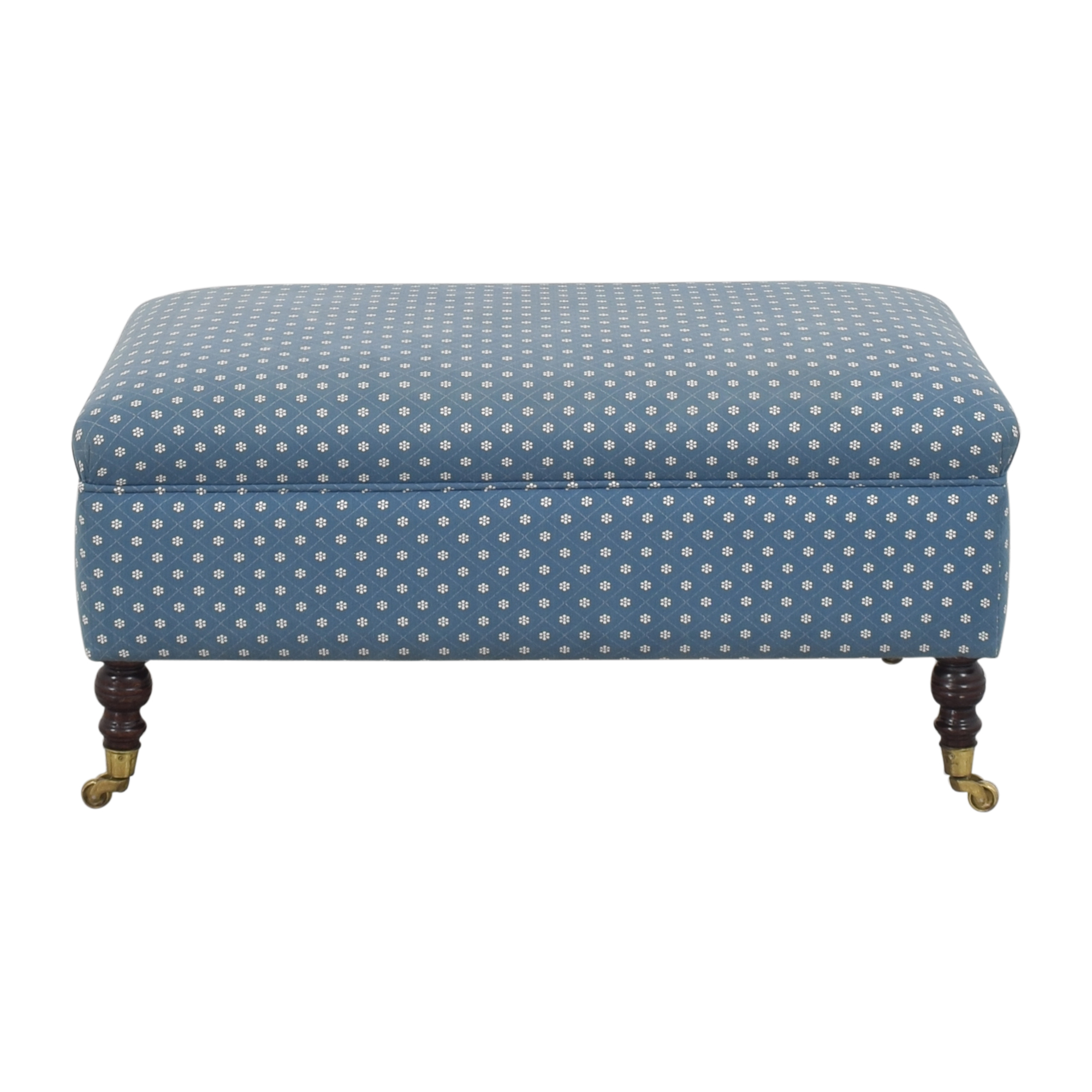 buy Rectangular Ottoman with Casters