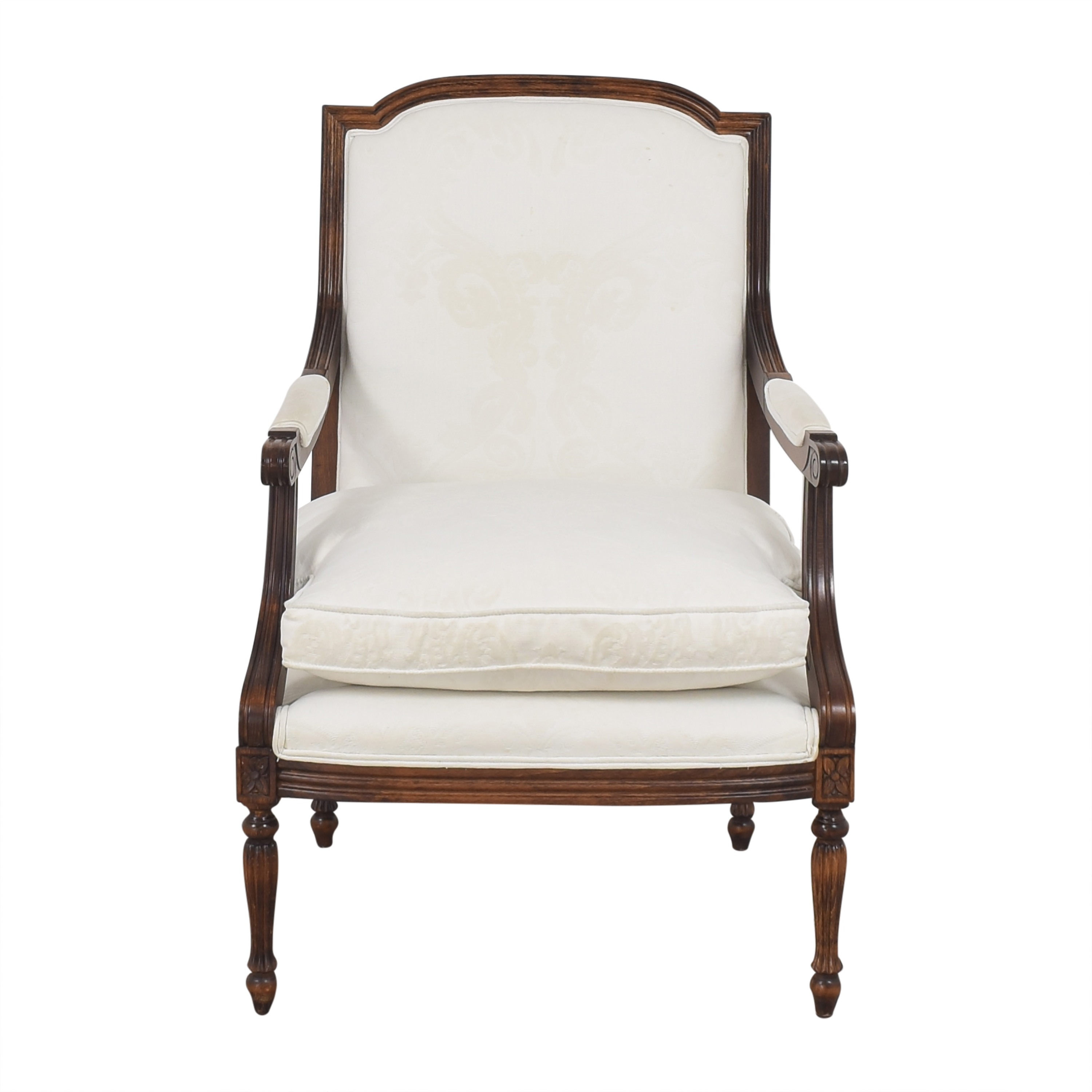 Cushioned French-Style Arm Chair ma