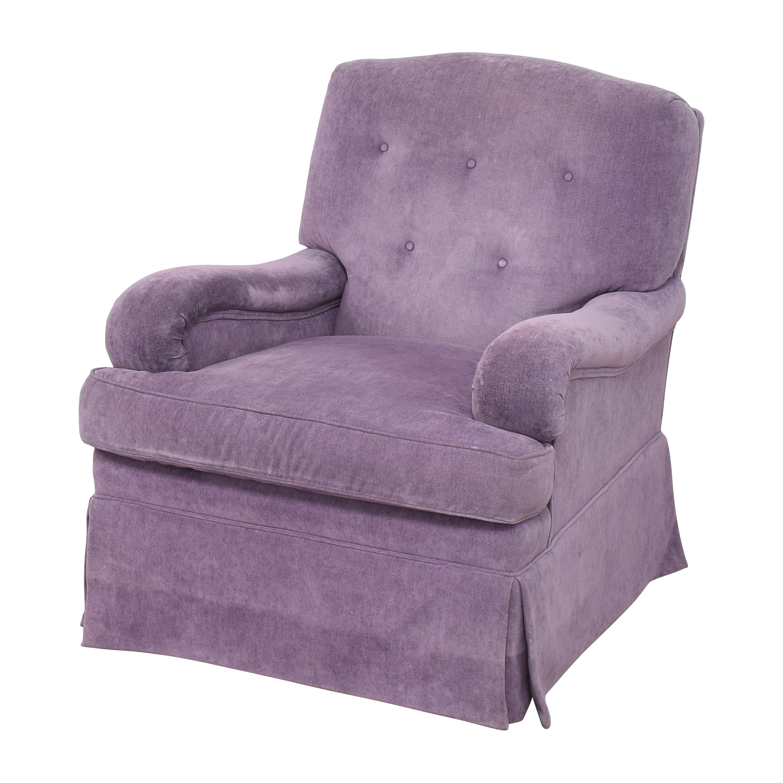 Greenbaum Interiors Swivel Tufted Arm Chair Greenbaum Interiors