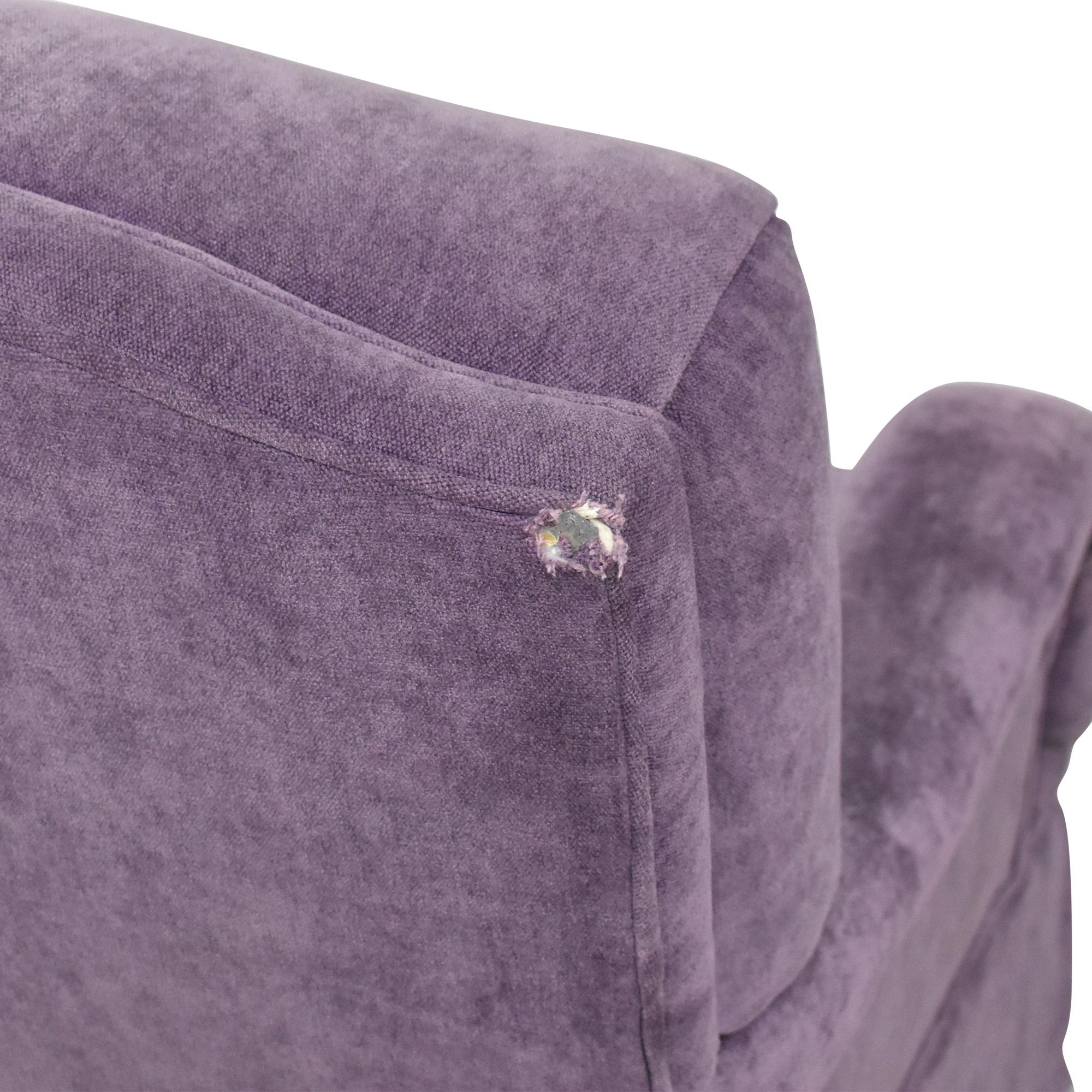 Greenbaum Interiors Greenbaum Interiors Swivel Tufted Arm Chair nj