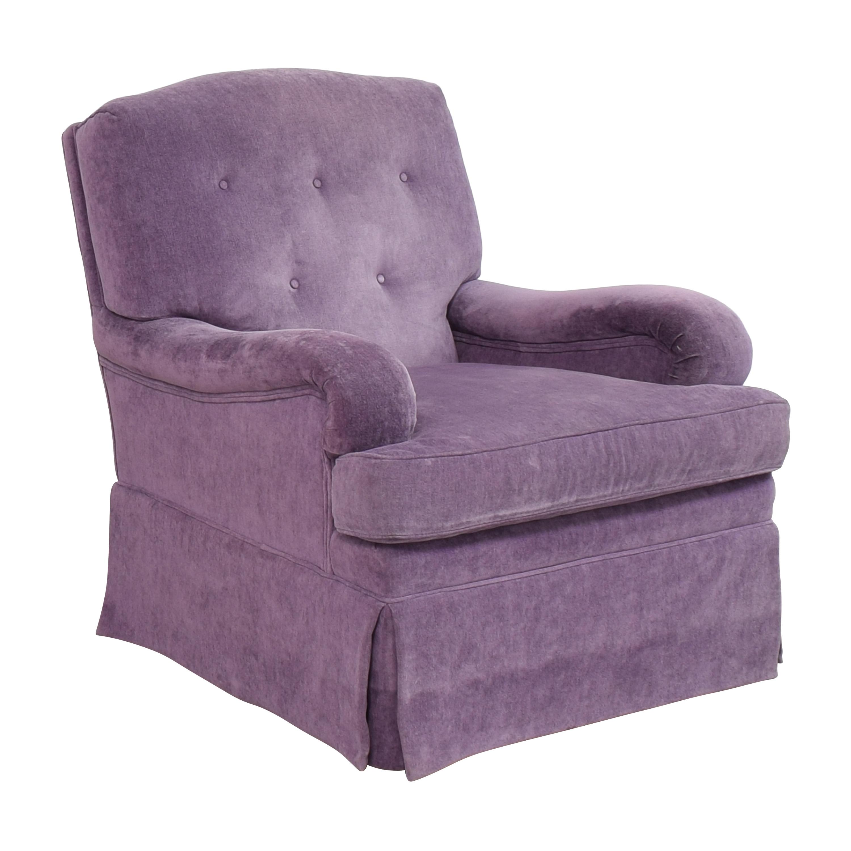 Greenbaum Interiors Greenbaum Interiors Swivel Tufted Arm Chair on sale