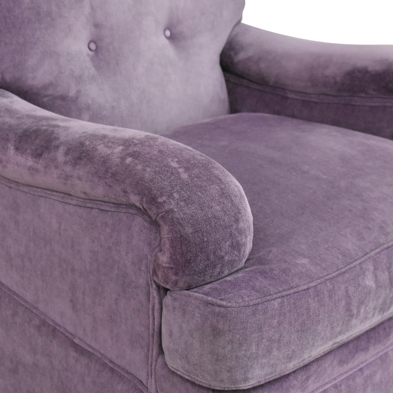 Greenbaum Interiors Greenbaum Interiors Swivel Tufted Arm Chair discount