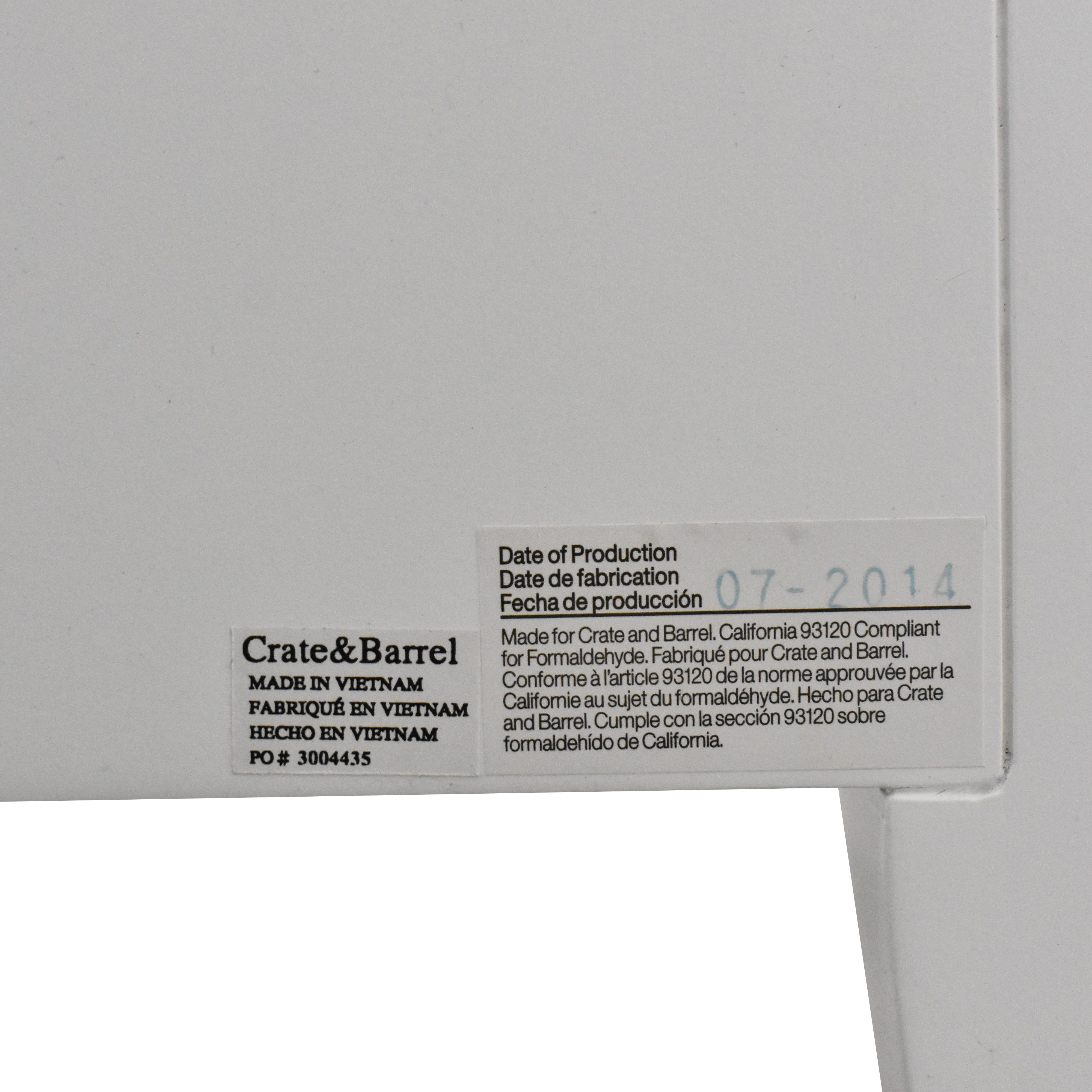 Crate & Barrel Crate & Barrel Arch Three Drawer Chest Dressers