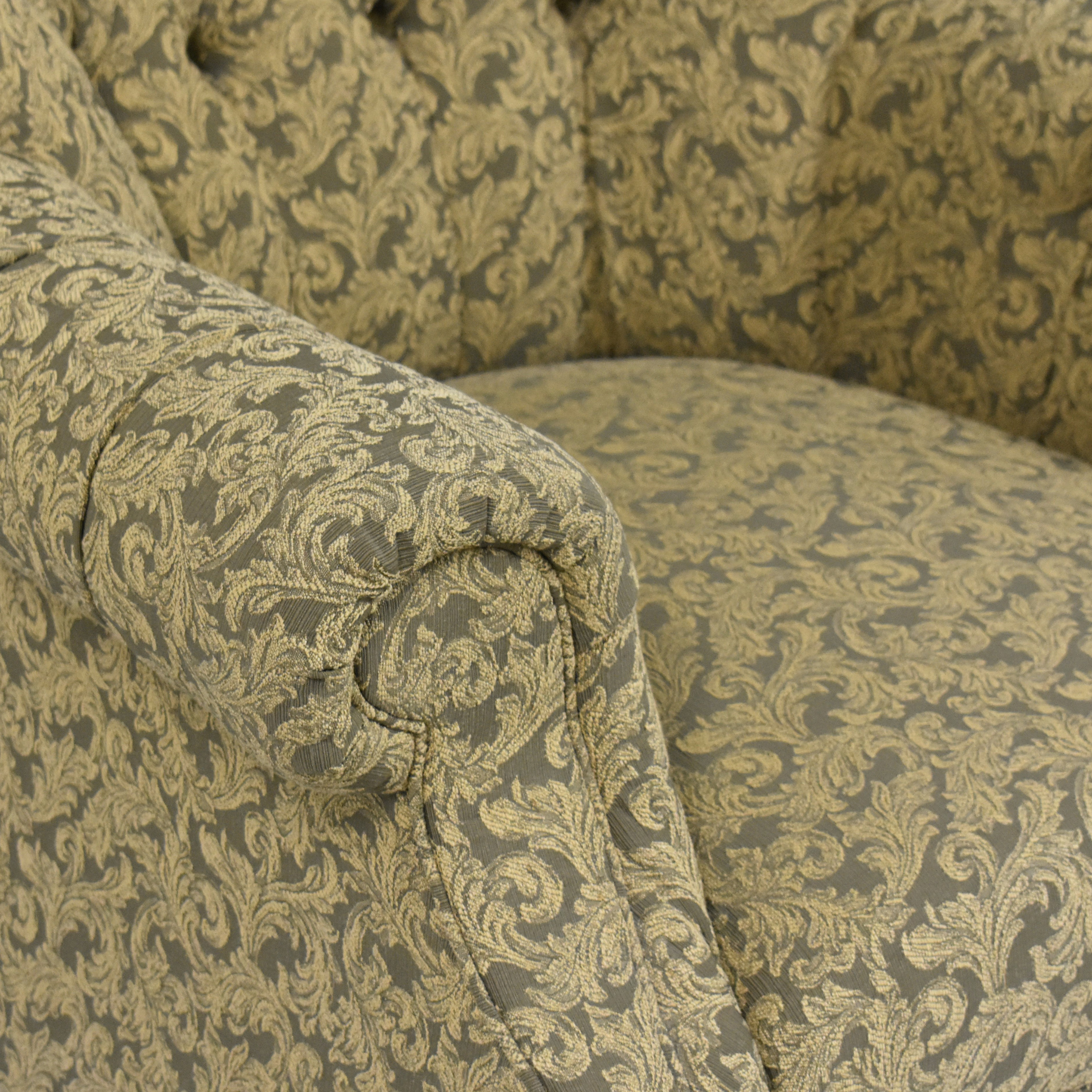 Domain Home Domain Home Tufted Roll Arm Accent Chair green