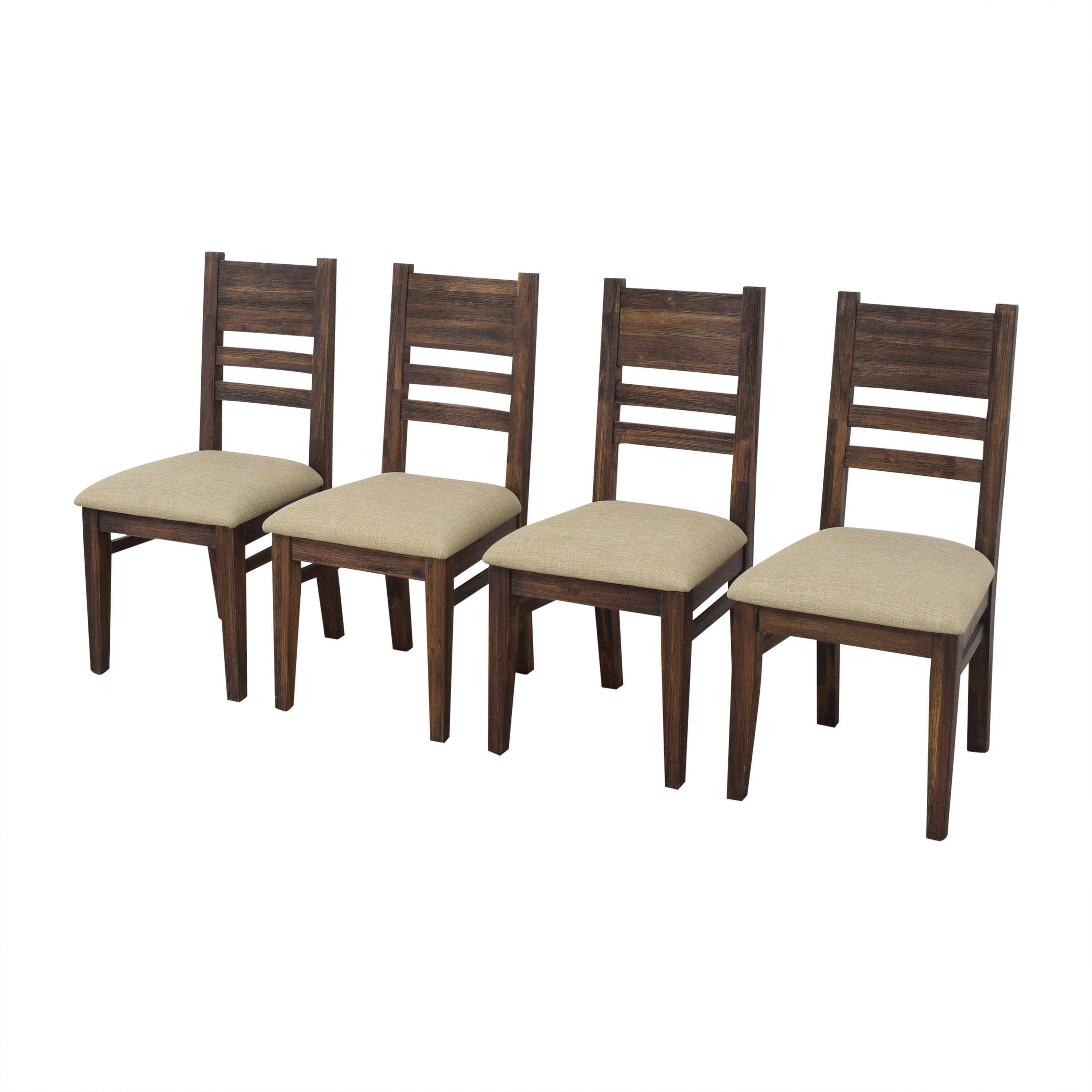 Macy's Macy's Avondale Dining Side Chairs brown & beige