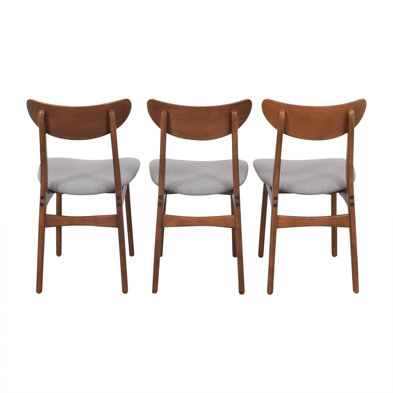 shop West Elm Classic Cafe Upholstered Dining Chairs West Elm Dining Chairs