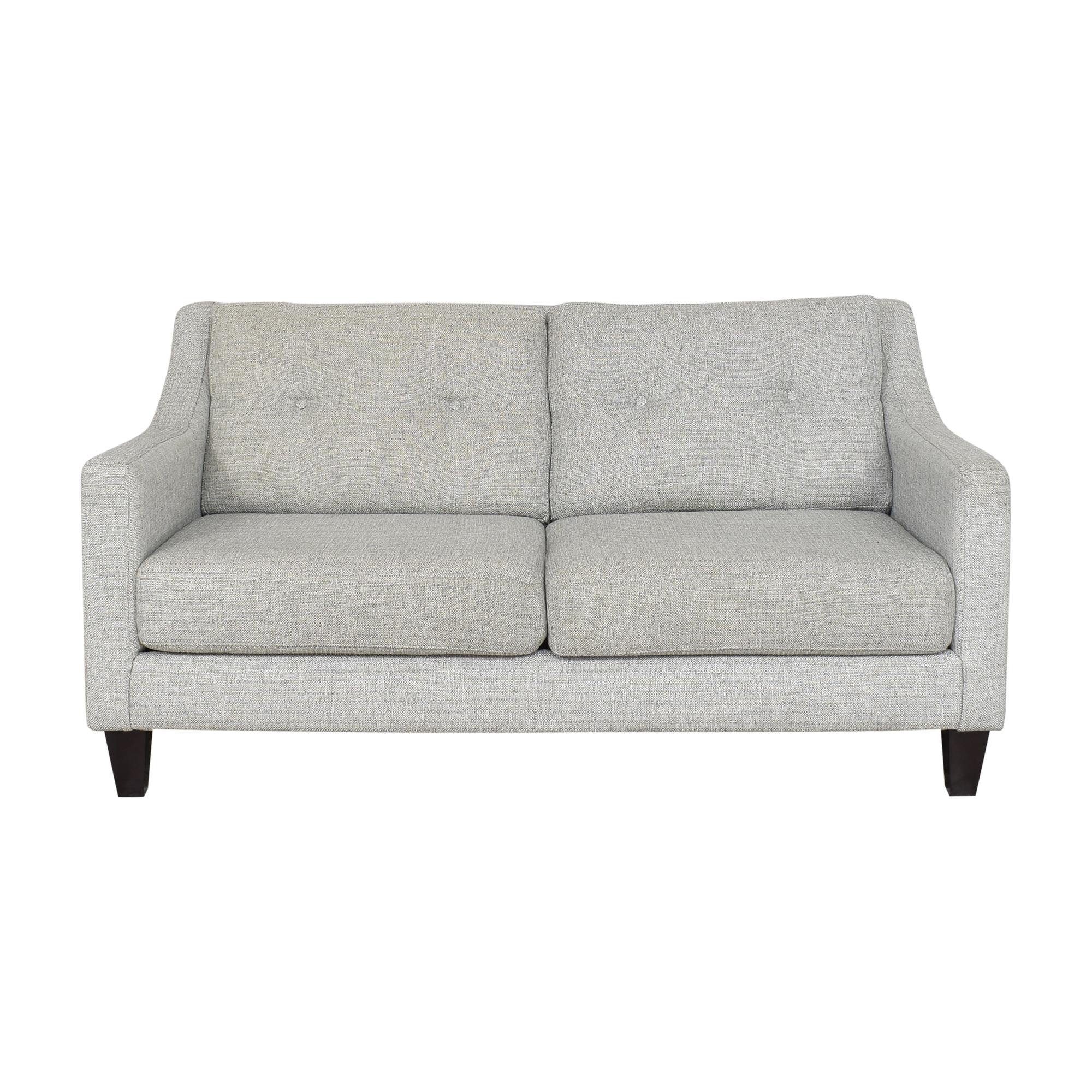 Raymour & Flanigan Raymour & Flanigan Kristoff Loveseat with Pillows dimensions