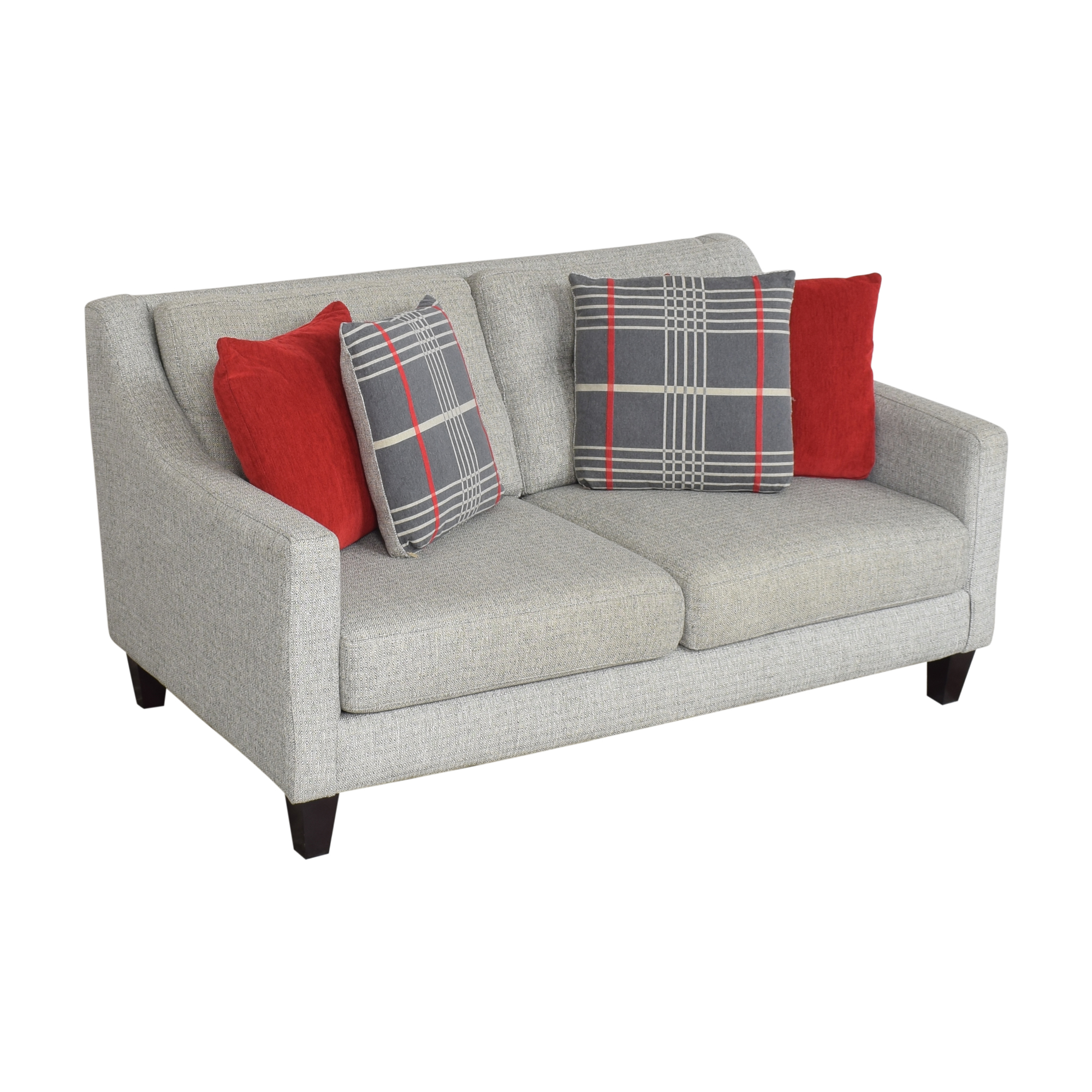 shop Raymour & Flanigan Raymour & Flanigan Kristoff Loveseat with Pillows online