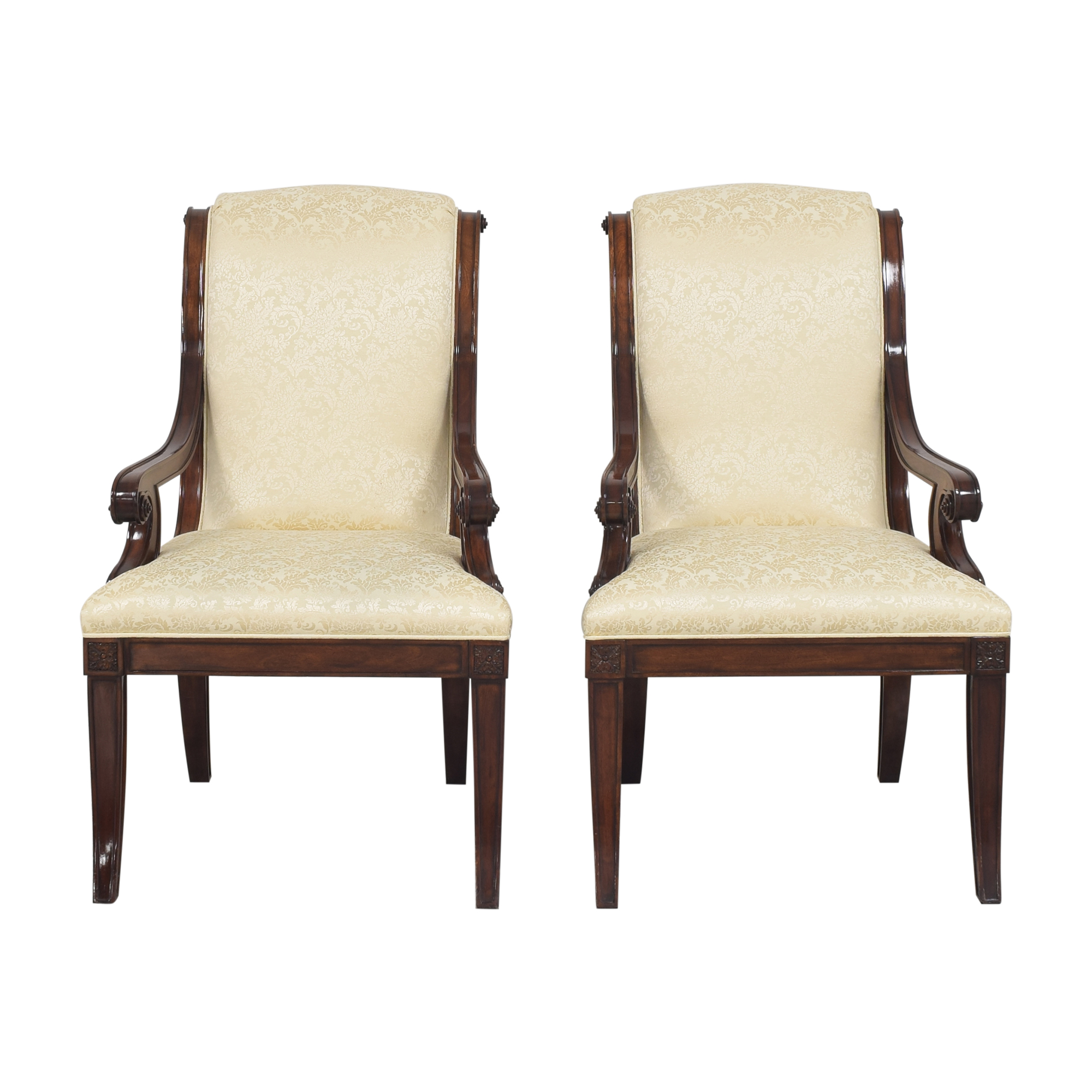 Theodore Alexander Theodore Alexander Gabrielle Upholstered Arm Chairs used
