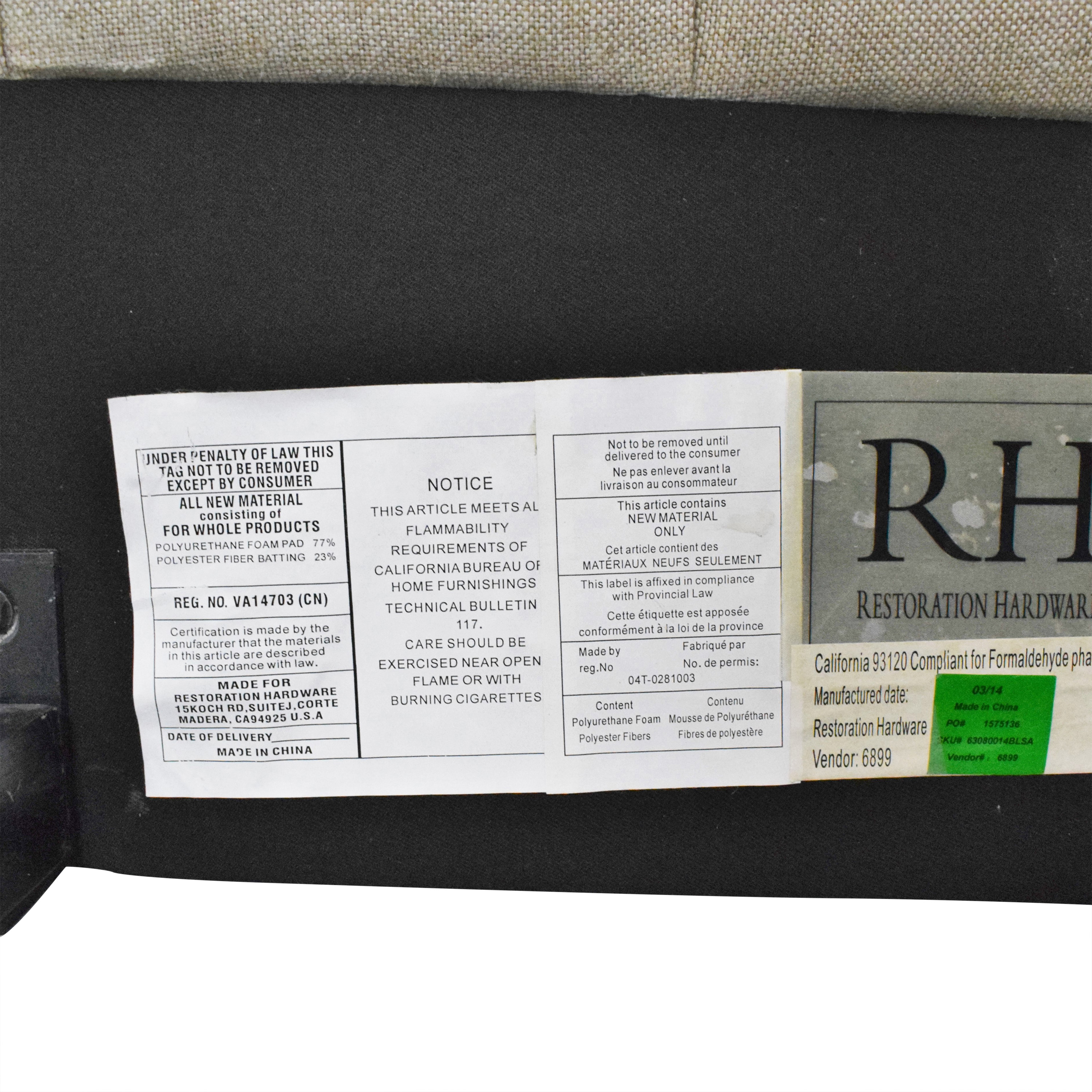 Restoration Hardware Restoration Hardware Tufted Upholstered Queen Bed dimensions