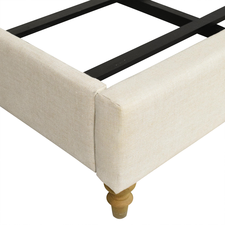 shop Restoration Hardware Restoration Hardware Tufted Upholstered Queen Bed online
