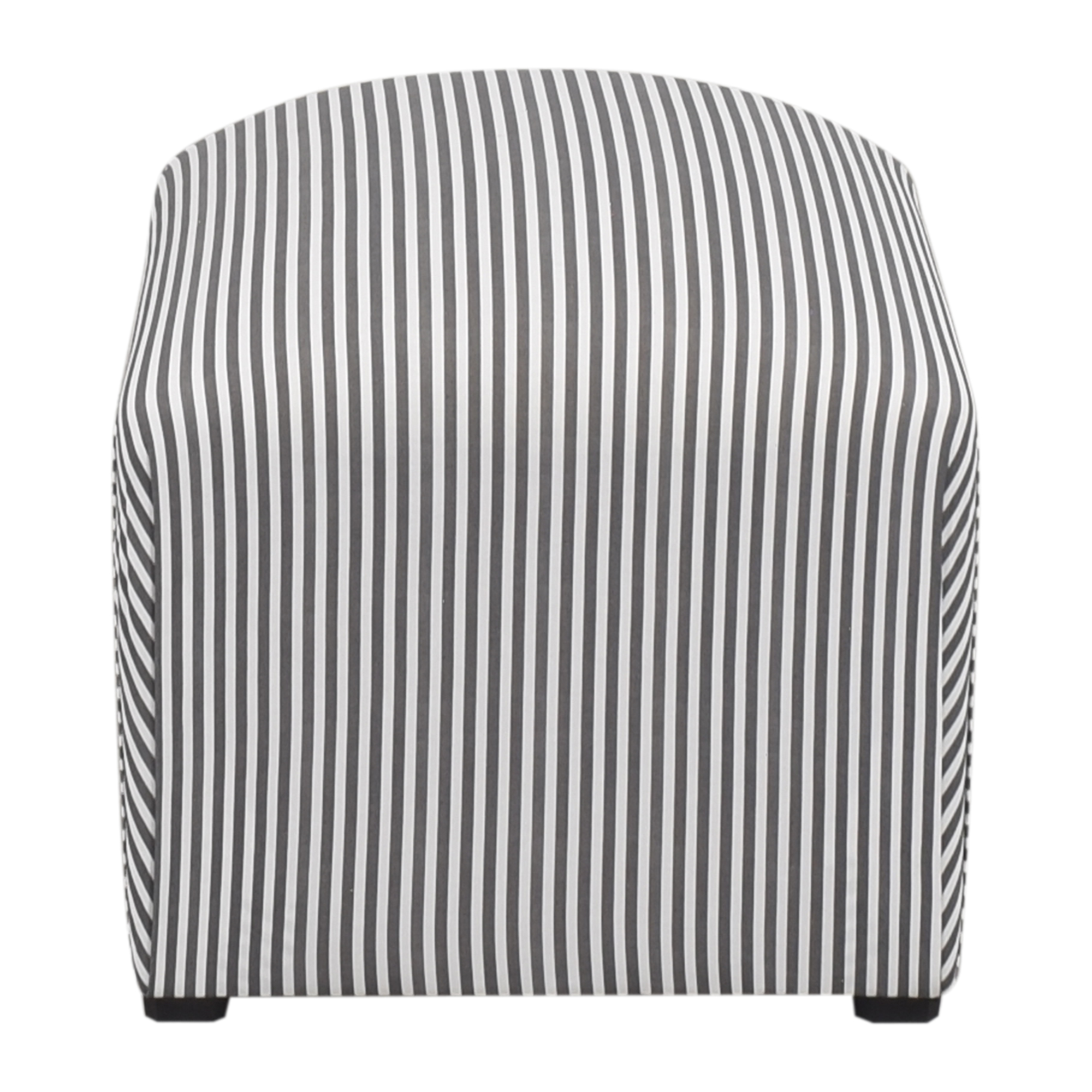 The Inside The Inside Ticking Stripe Deco Ottoman ma
