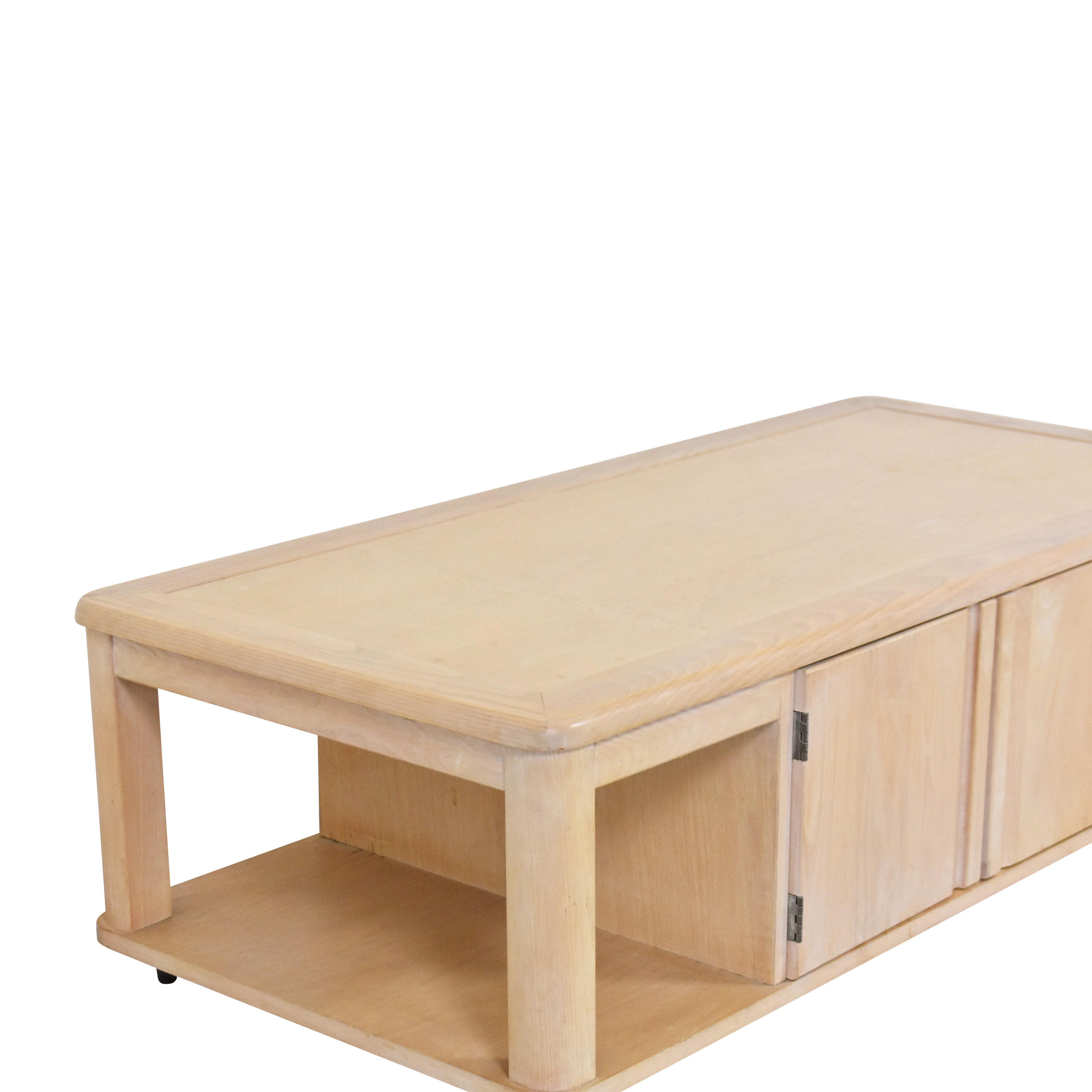 Storage Coffee Table on Casters discount