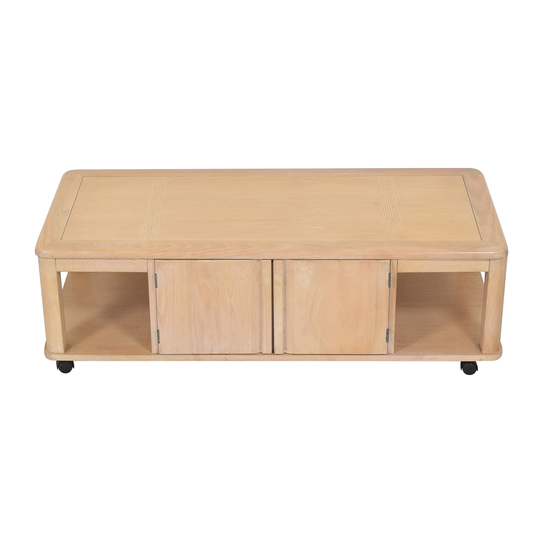 Storage Coffee Table on Casters nj