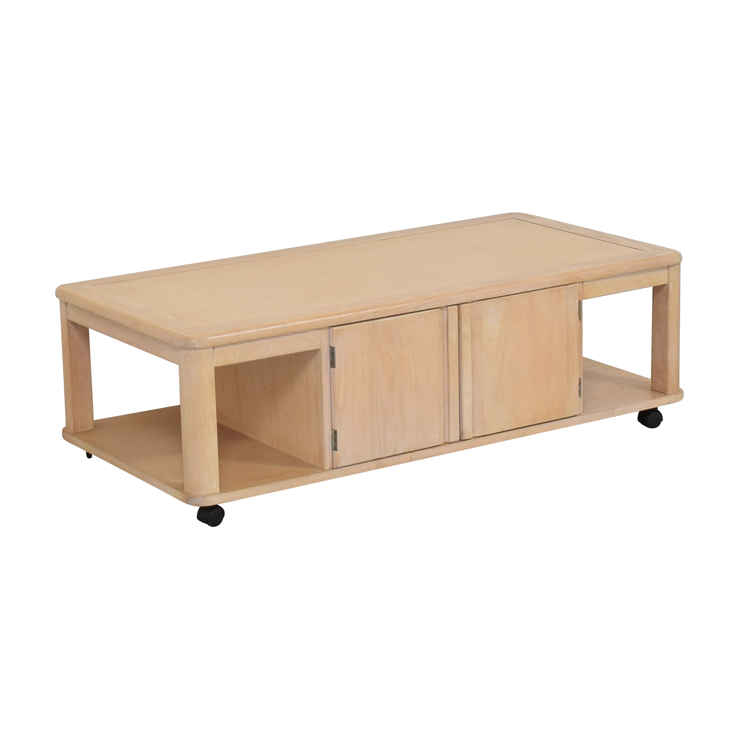 Storage Coffee Table on Casters on sale