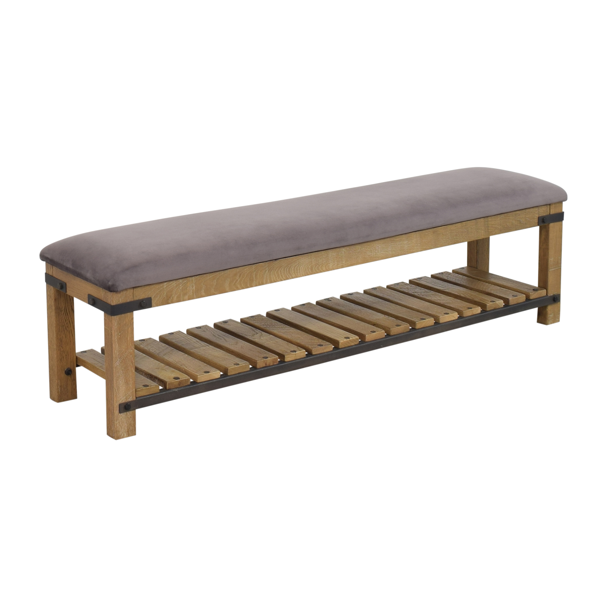 Arhaus Arhaus Bendelle Bench purple and brown