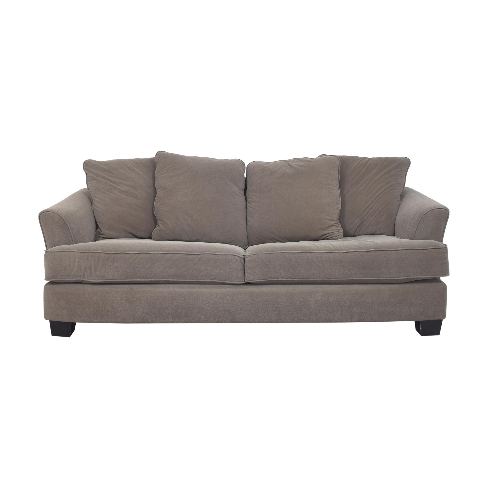 shop Raymour & Flanigan Two Cushion Sleeper Sofa Raymour & Flanigan