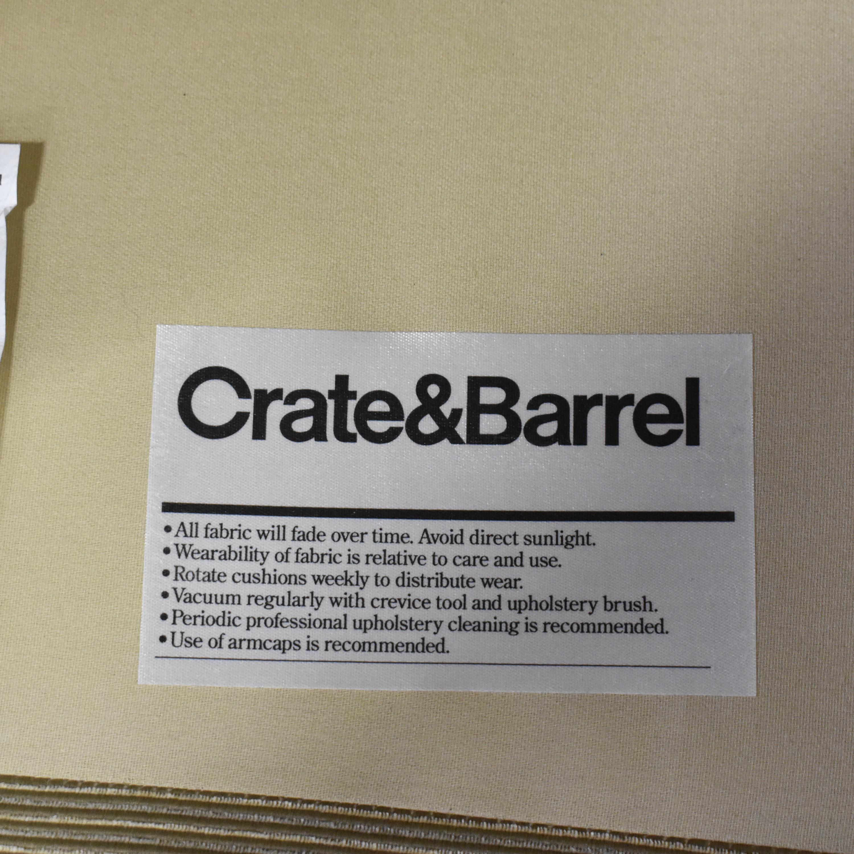 shop Crate & Barrel Tight Back Accent Chair Crate & Barrel