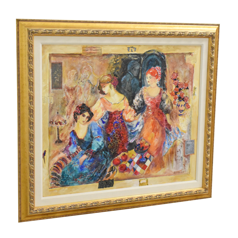 Sevitt Francis Gaze III Framed Wall Art pa