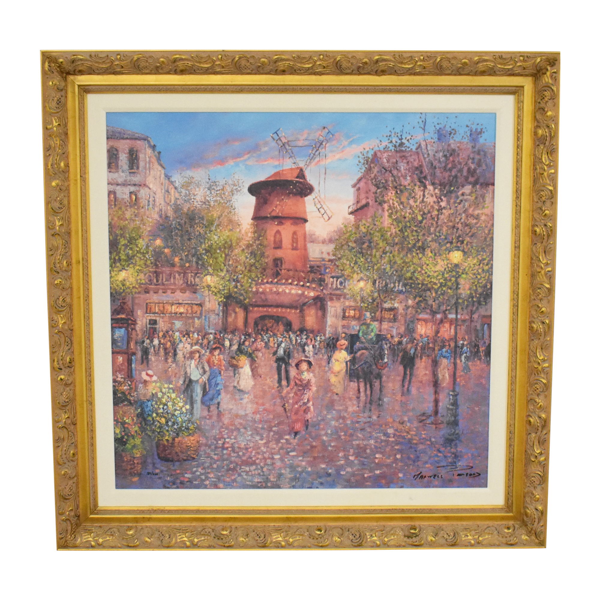 Colin Maxwell Parsons Evening In Paris Framed Wall Art on sale