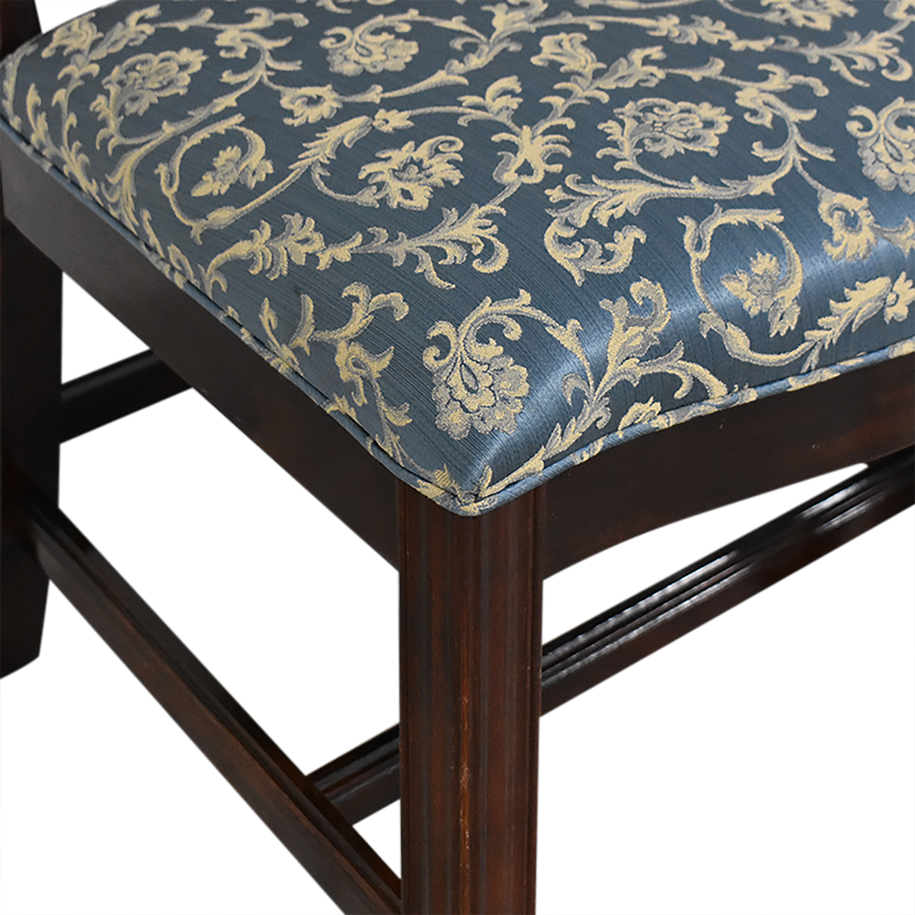 Thomasville Thomasville Chippendale Style Dining Chairs dark brown & blue