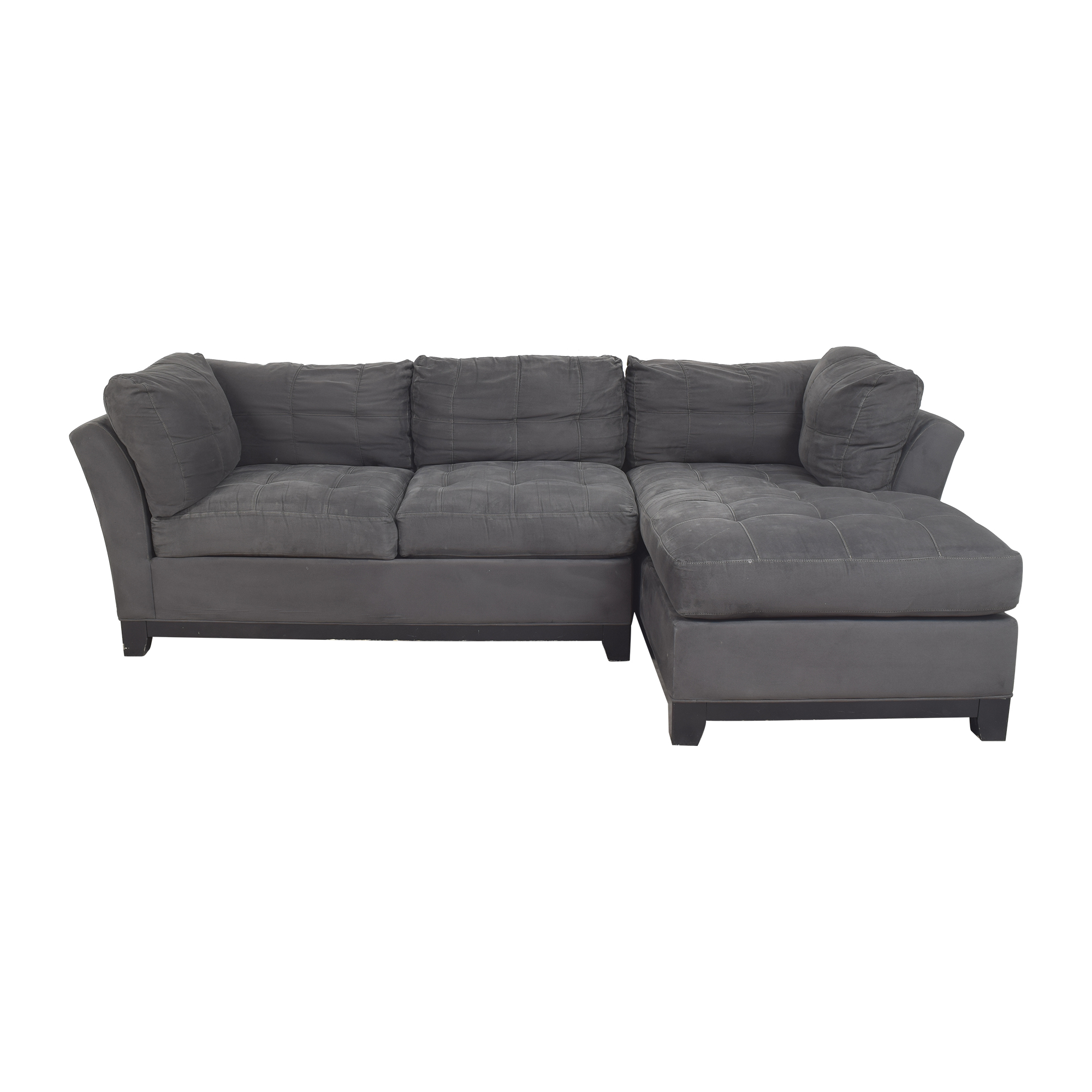 Cindy Crawford Home Cindy Crawford Home Metropolis Chaise Sectional Sofa dark grey