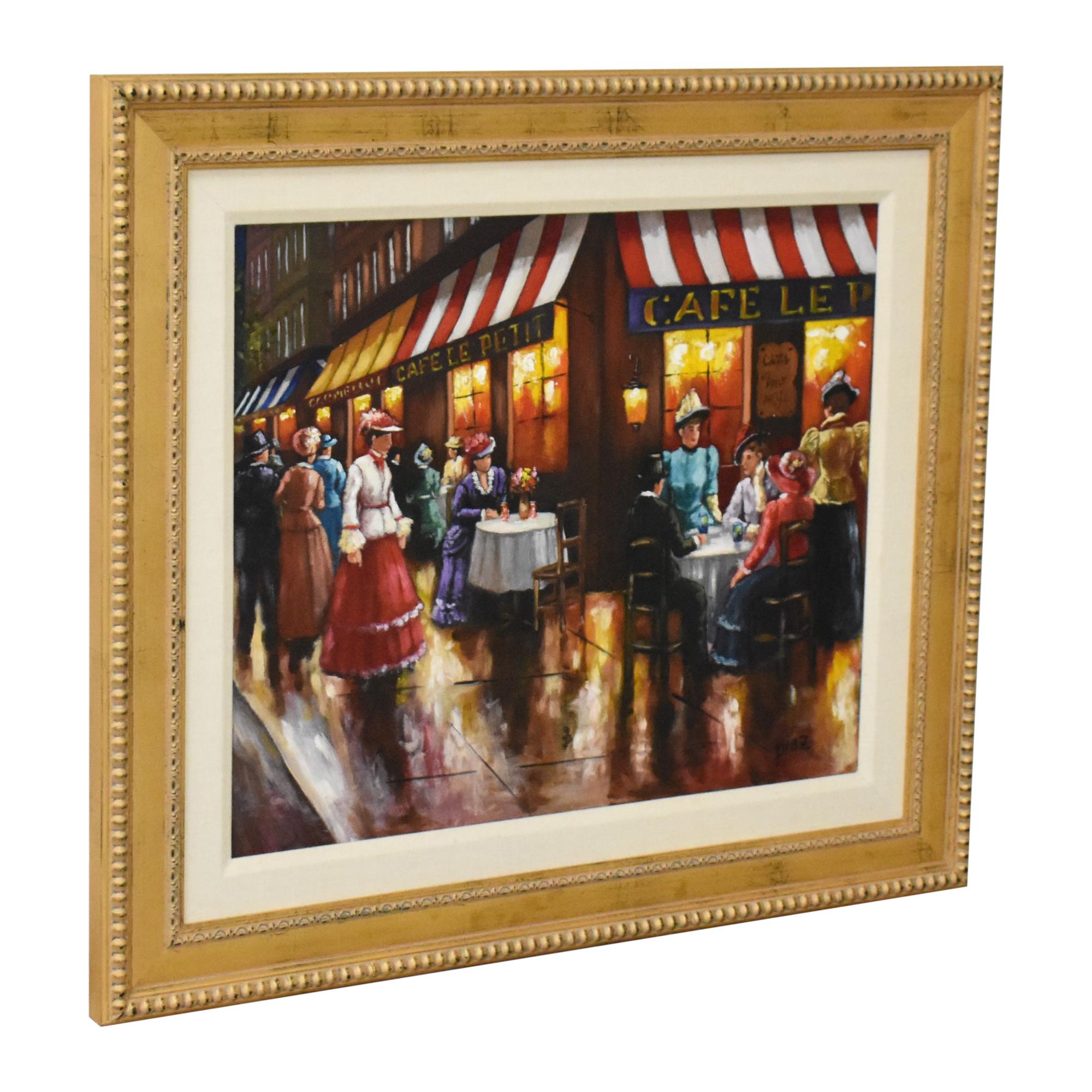 Cafe Scene Wall Art discount
