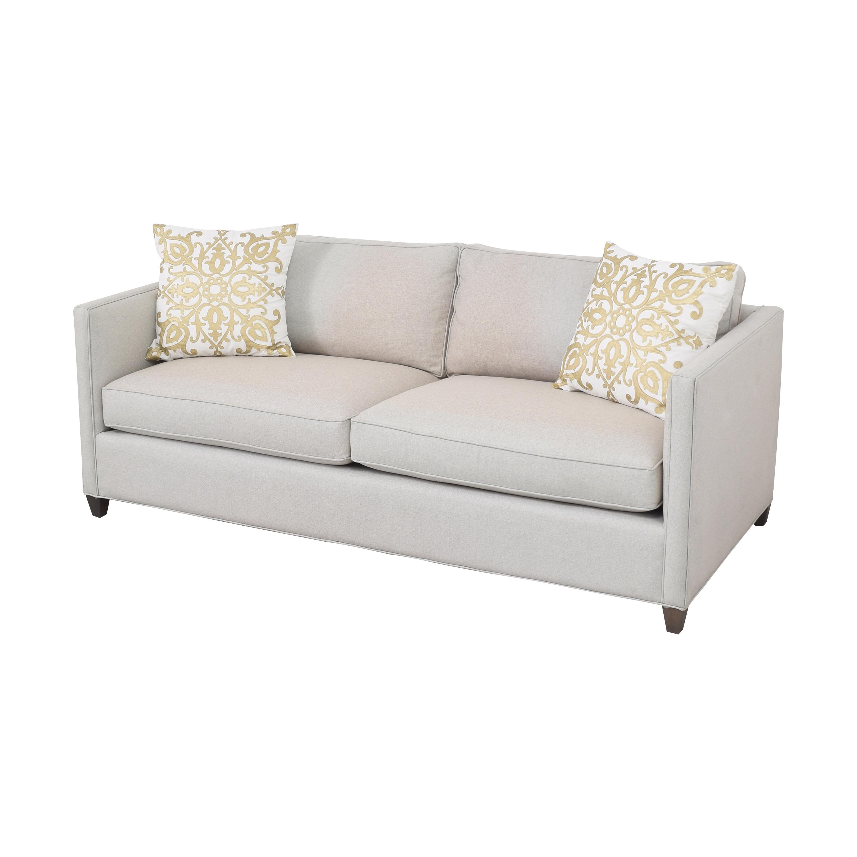 Crate & Barrel Crate & Barrel Two Cushion Sofa grey
