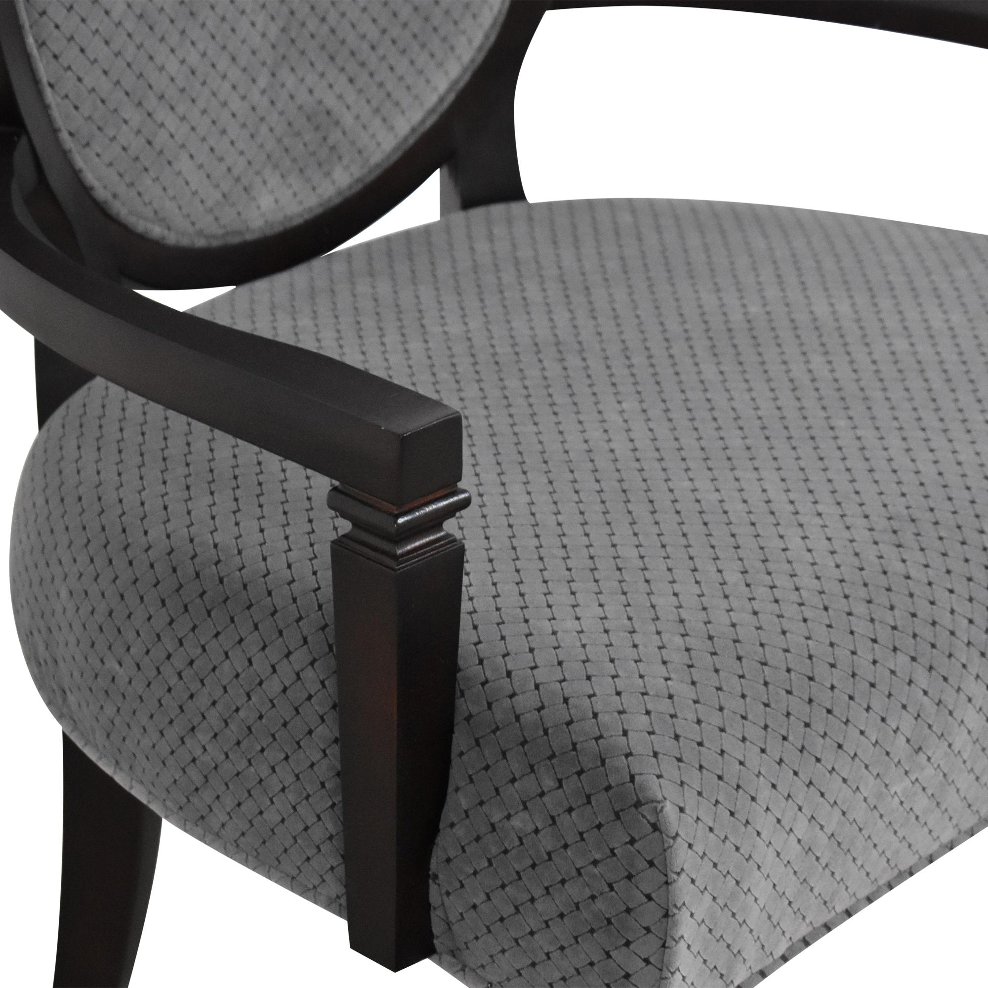 Hekman Furniture Hekman Furniture Brighton King Louis Back Armchair dark brown & blue