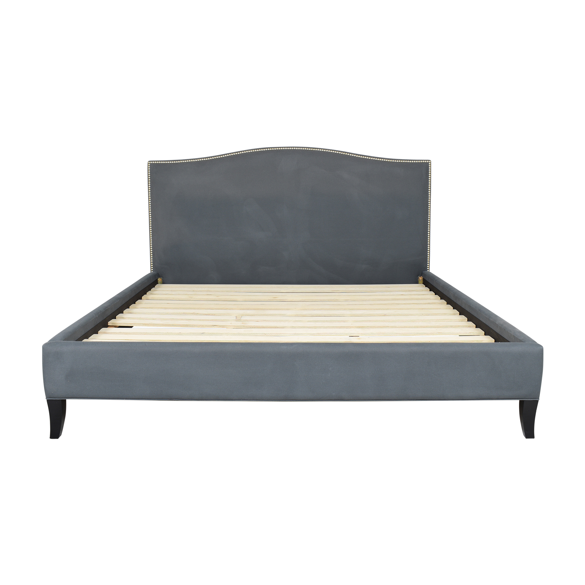 Crate & Barrel Crate & Barrel Colette Upholstered King Bed ma