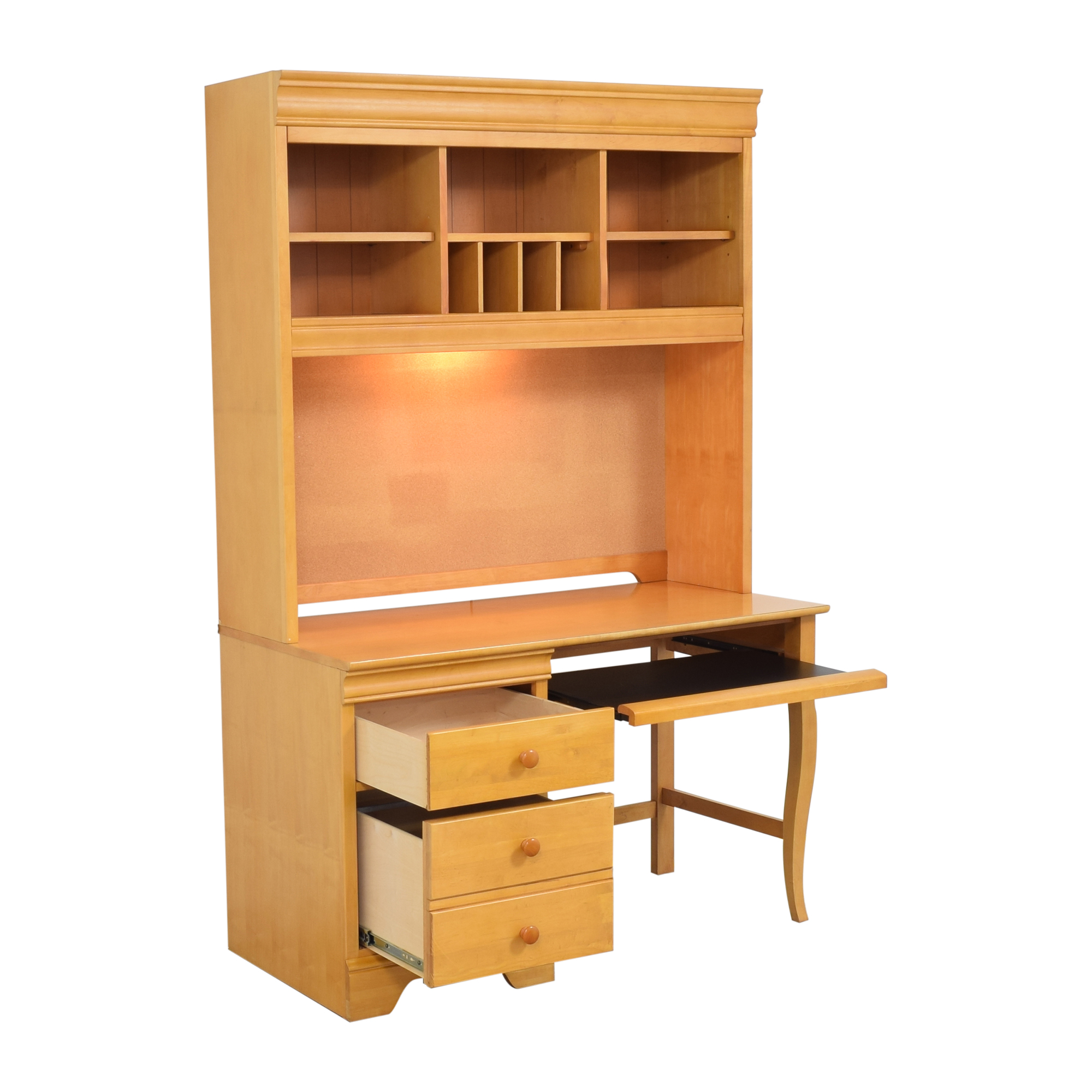 Stanley Furniture Stanley Furniture Pedestal Desk with Hutch Home Office Desks