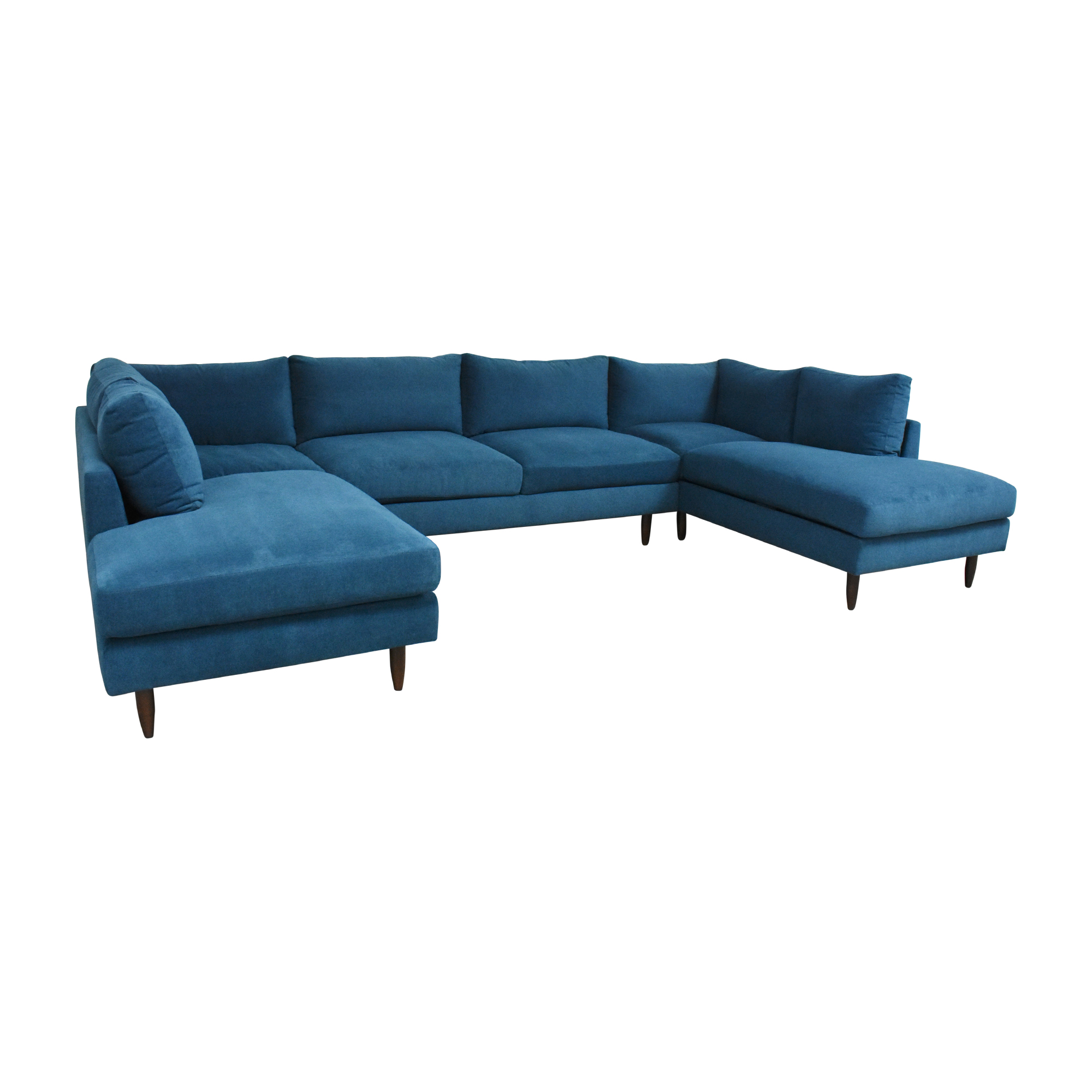 shop BenchMade Modern Crowd Pleaser Double Chaise Sectional U Sofa BenchMade Modern Sectionals
