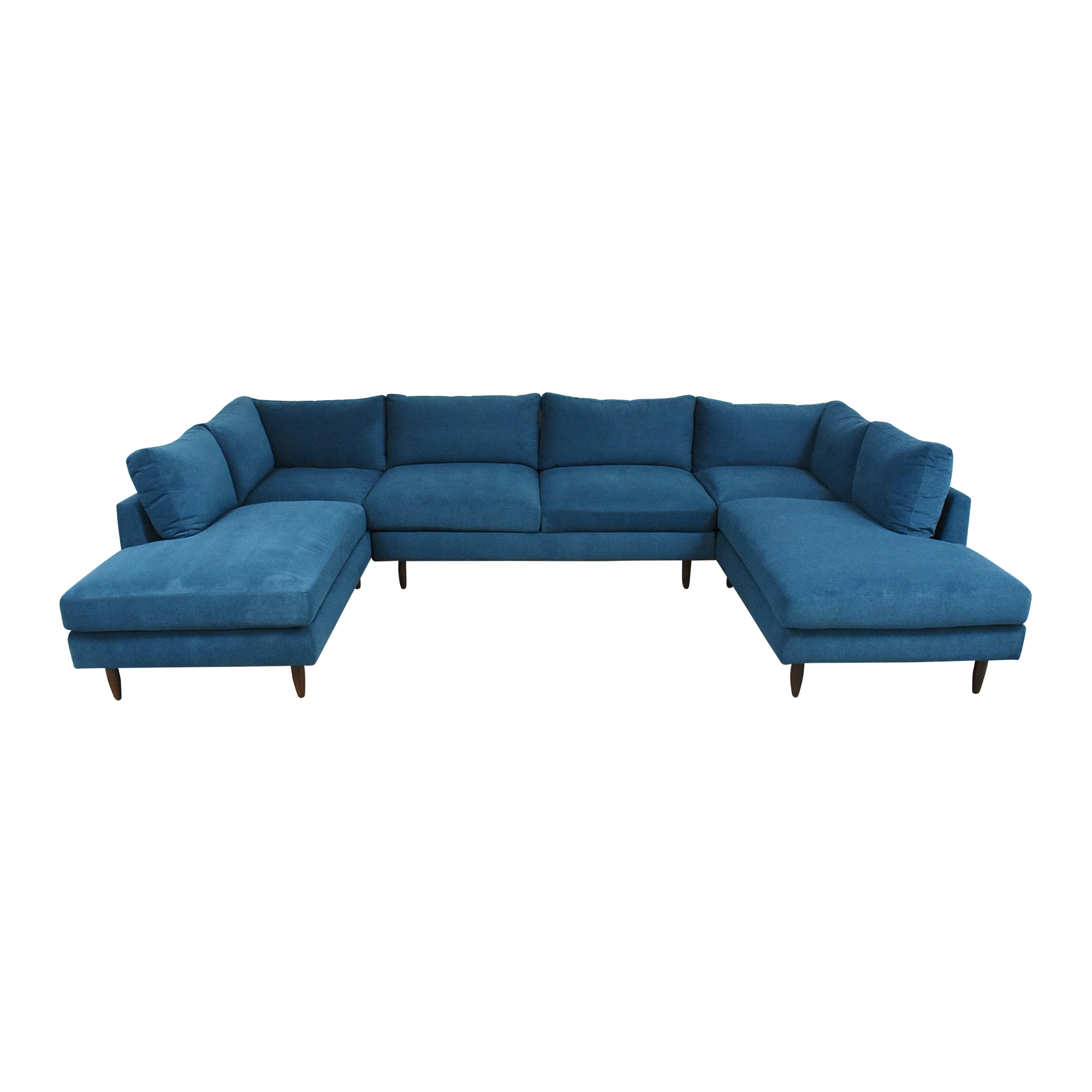 shop BenchMade Modern Crowd Pleaser Double Chaise Sectional U Sofa BenchMade Modern