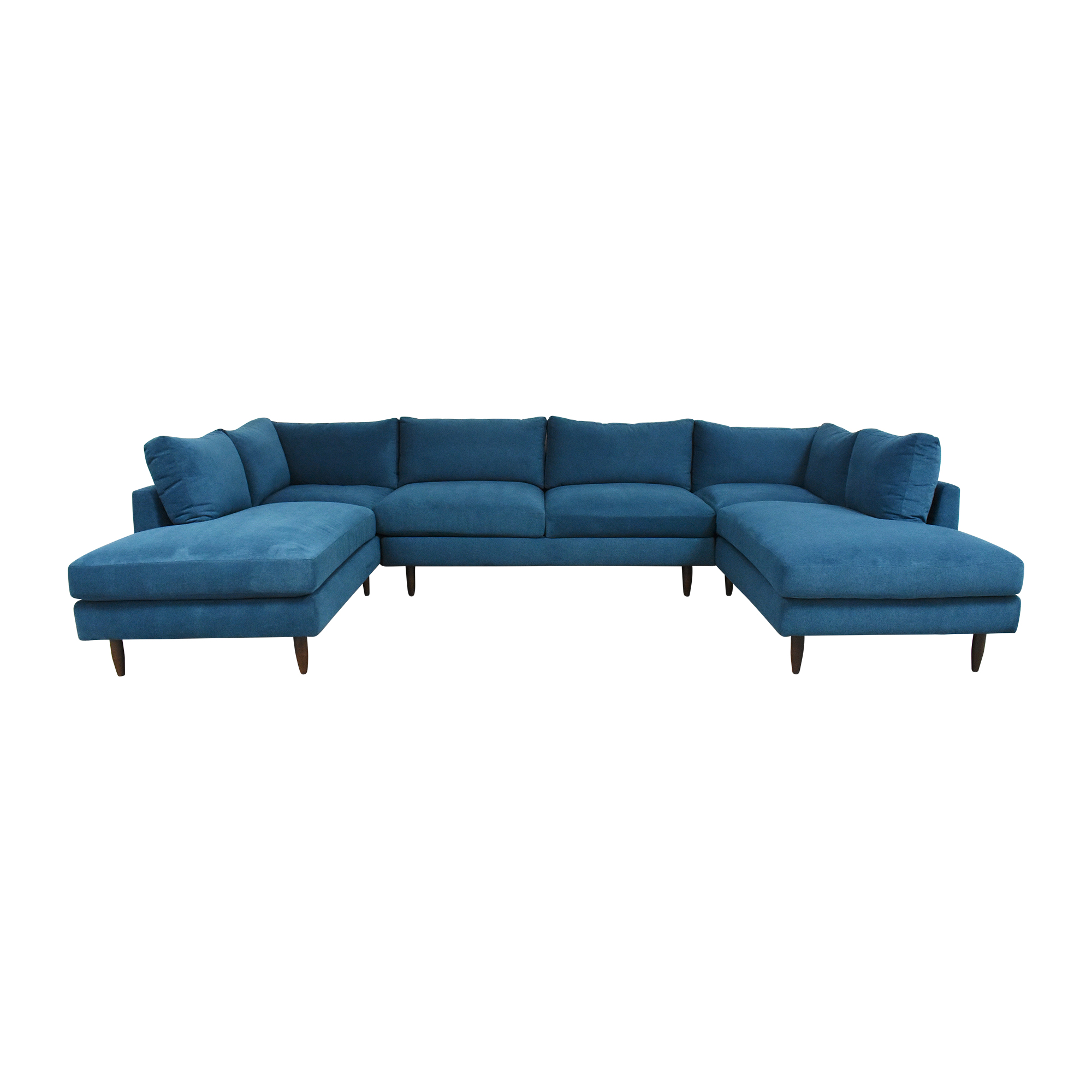 BenchMade Modern BenchMade Modern Crowd Pleaser Double Chaise Sectional U Sofa discount