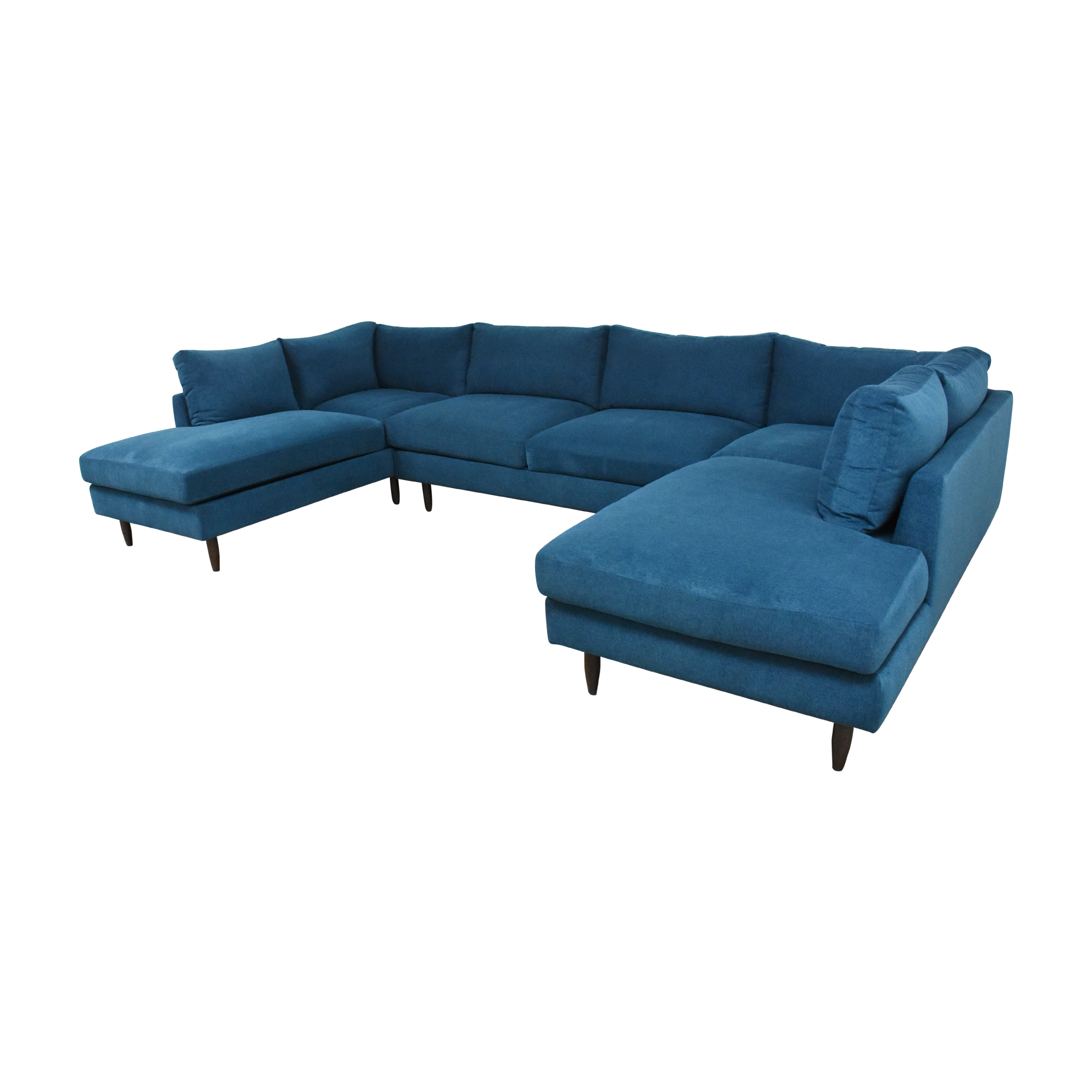 BenchMade Modern BenchMade Modern Crowd Pleaser Double Chaise Sectional U Sofa for sale