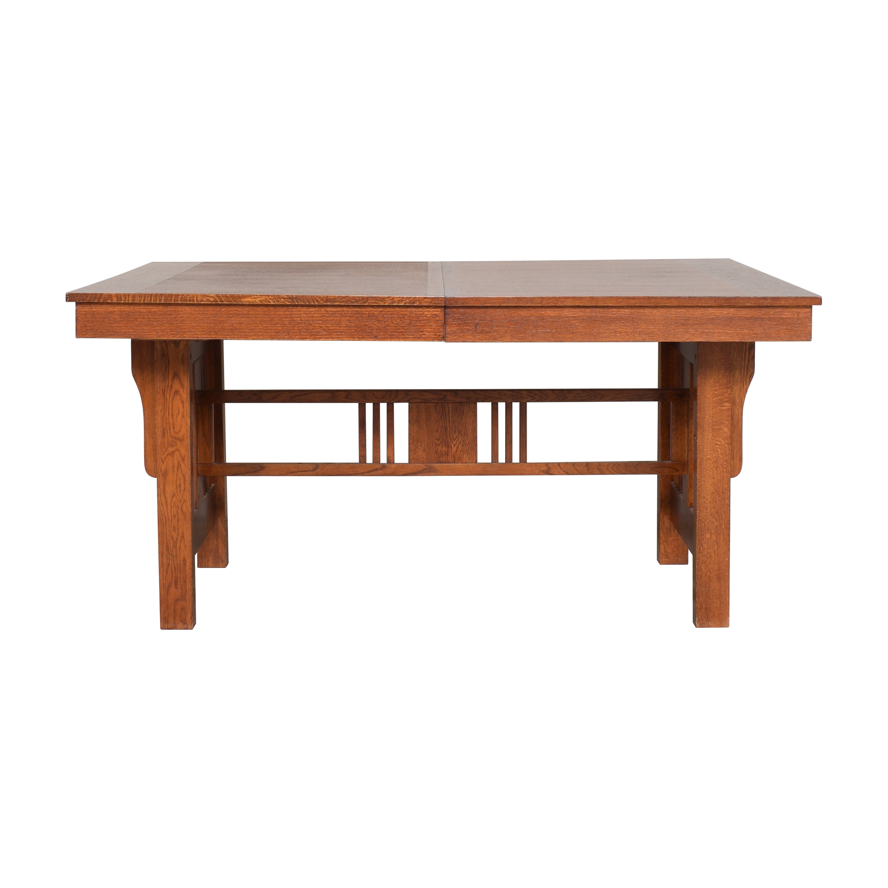 Extendable Trestle Dining Table pa