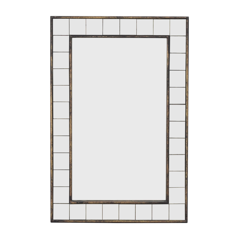 West Elm Antique Tiled Mirror / Decor