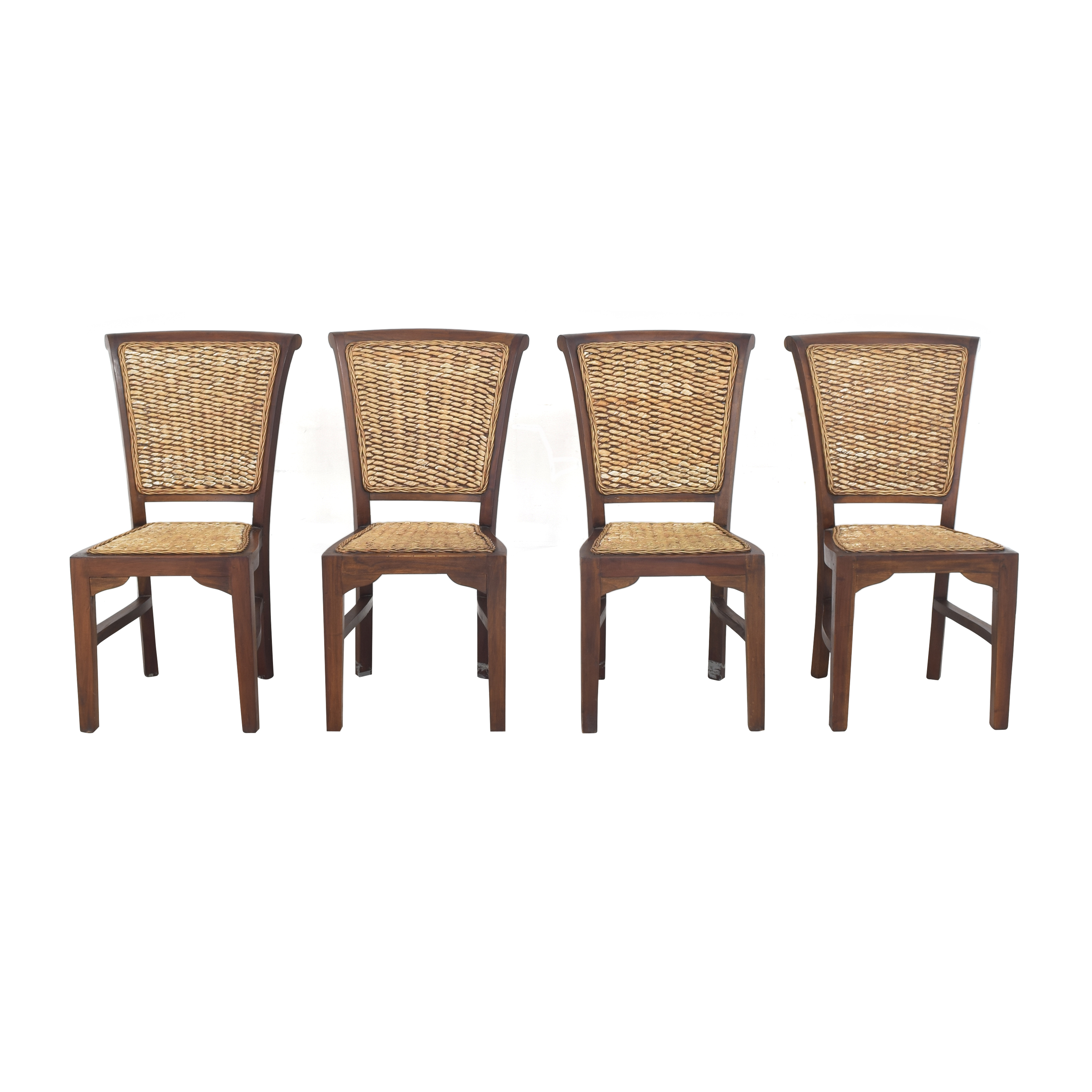 ABC Carpet & Home ABC Carpet & Home Woven Dining Chairs pa
