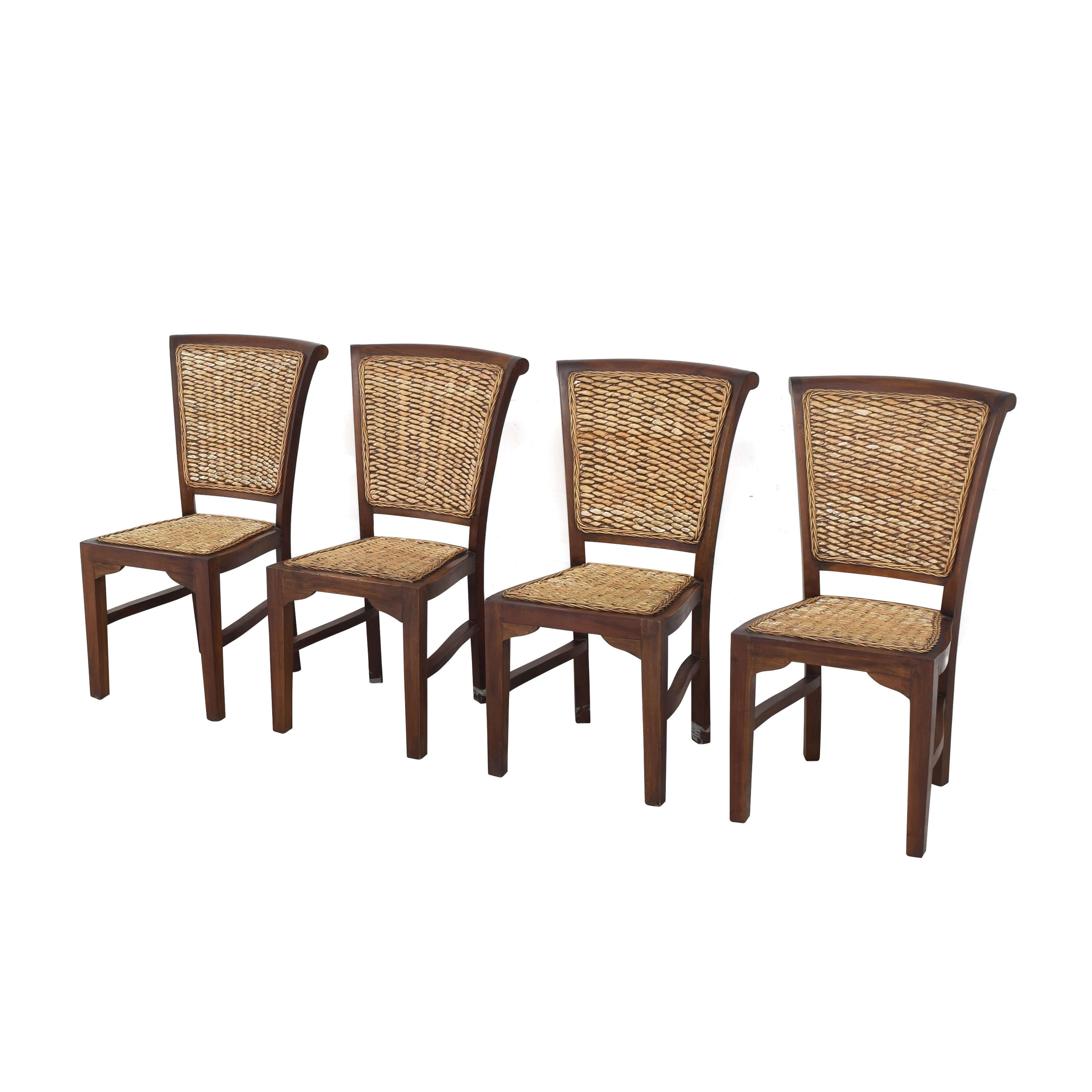 ABC Carpet & Home ABC Carpet & Home Woven Dining Chairs for sale