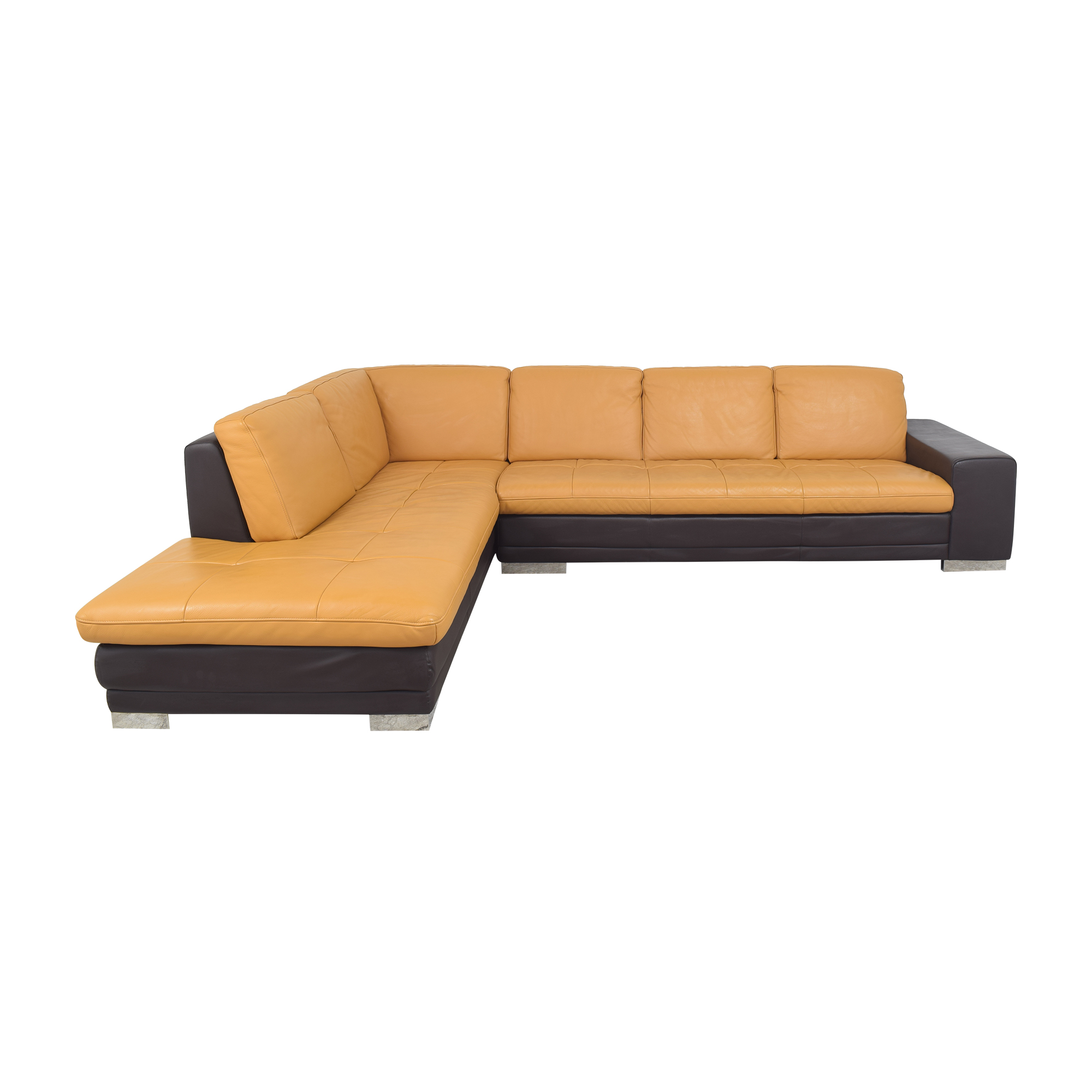 shop Two Tone Chaise Sectional Sofa  Sectionals