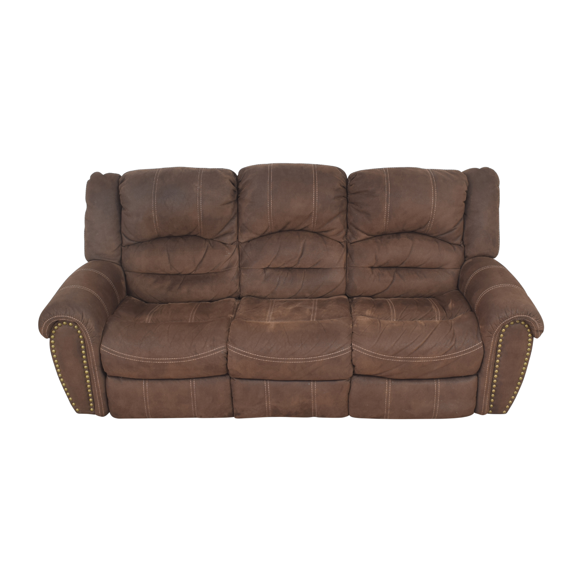 Flexsteel Town Nailhead Reclining Sofa / Classic Sofas