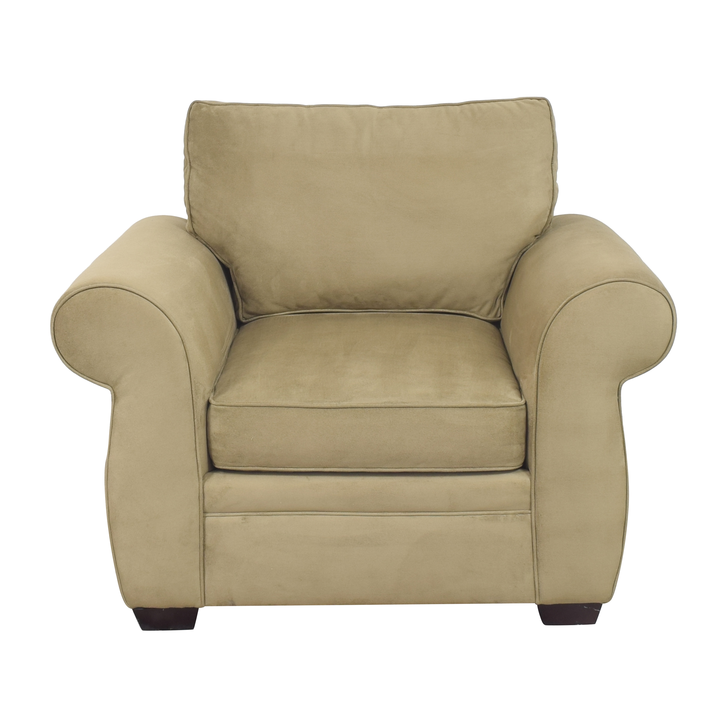 Pottery Barn Pearce Roll Arm Upholstered Armchair sale