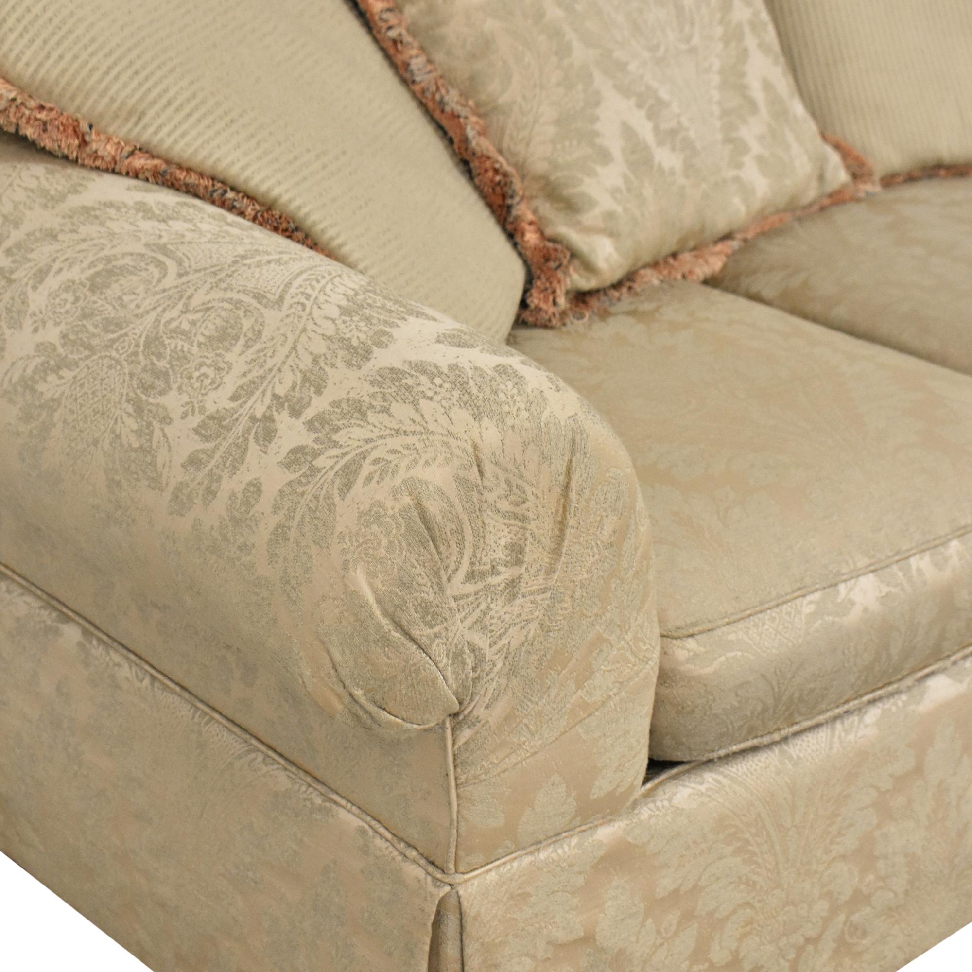 Lexington Furniture Lexington Furniture Skirted Roll Arm Sofa Classic Sofas