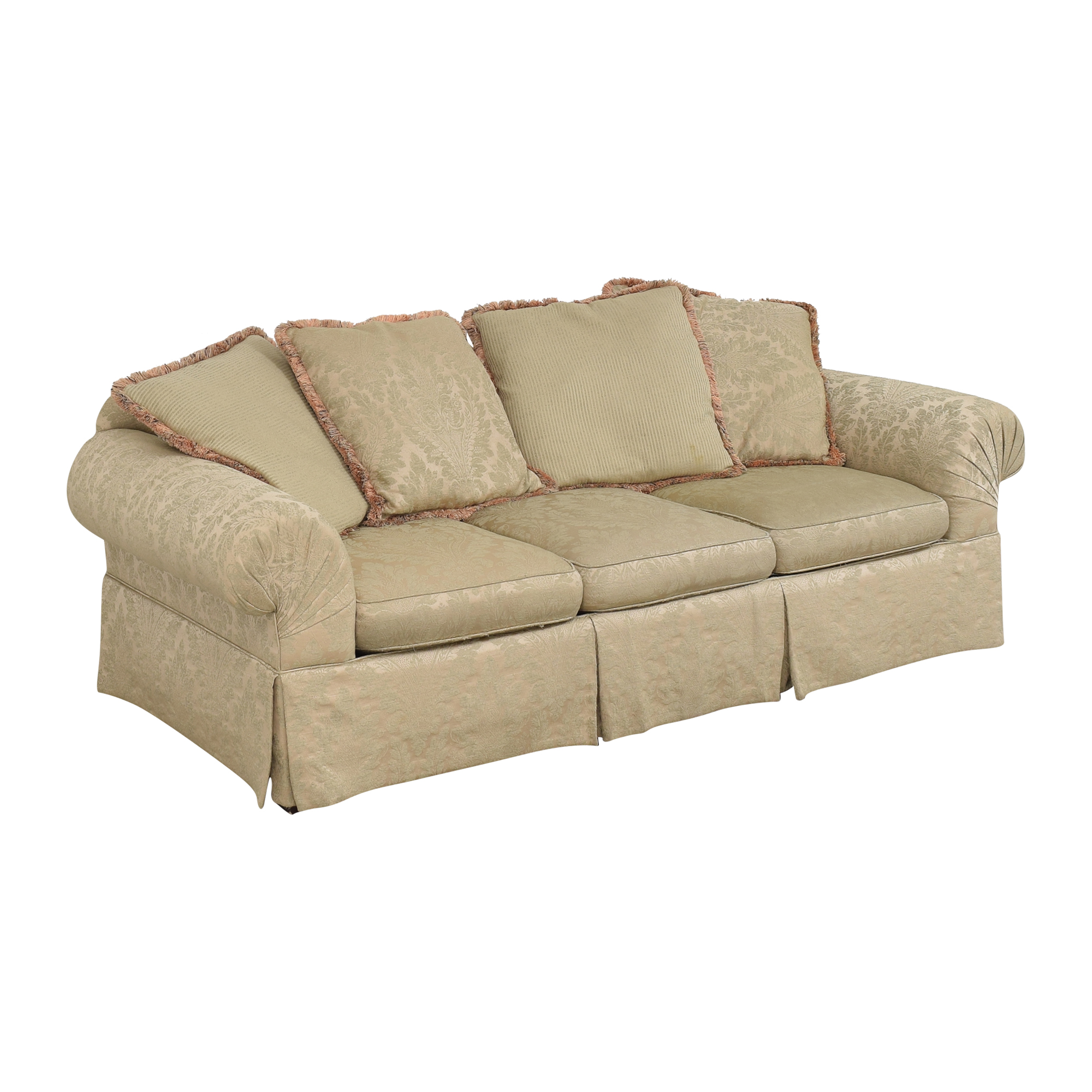 Lexington Furniture Skirted Roll Arm Sofa / Sofas
