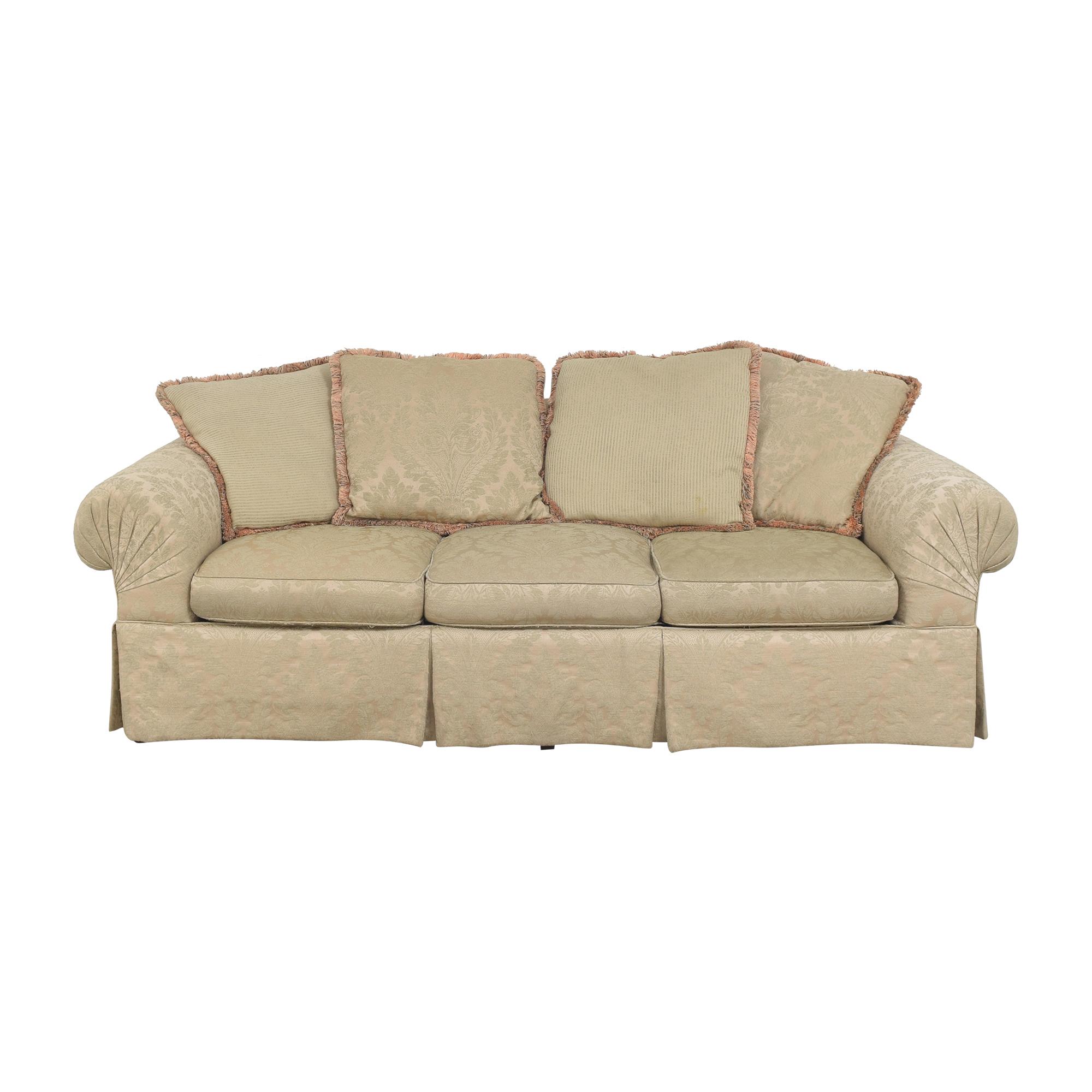 Lexington Furniture Lexington Furniture Skirted Roll Arm Sofa beige