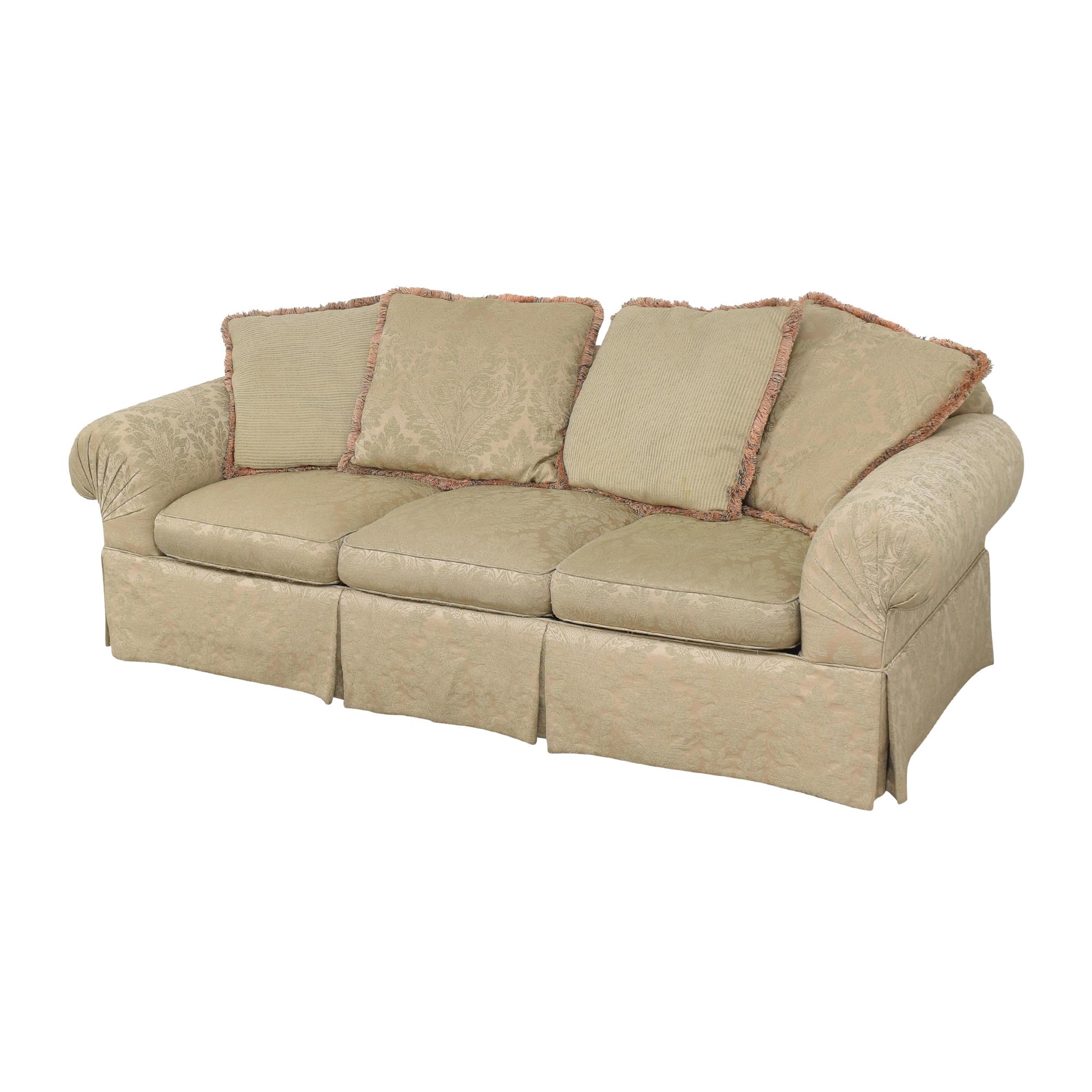buy Lexington Furniture Skirted Roll Arm Sofa Lexington Furniture Sofas