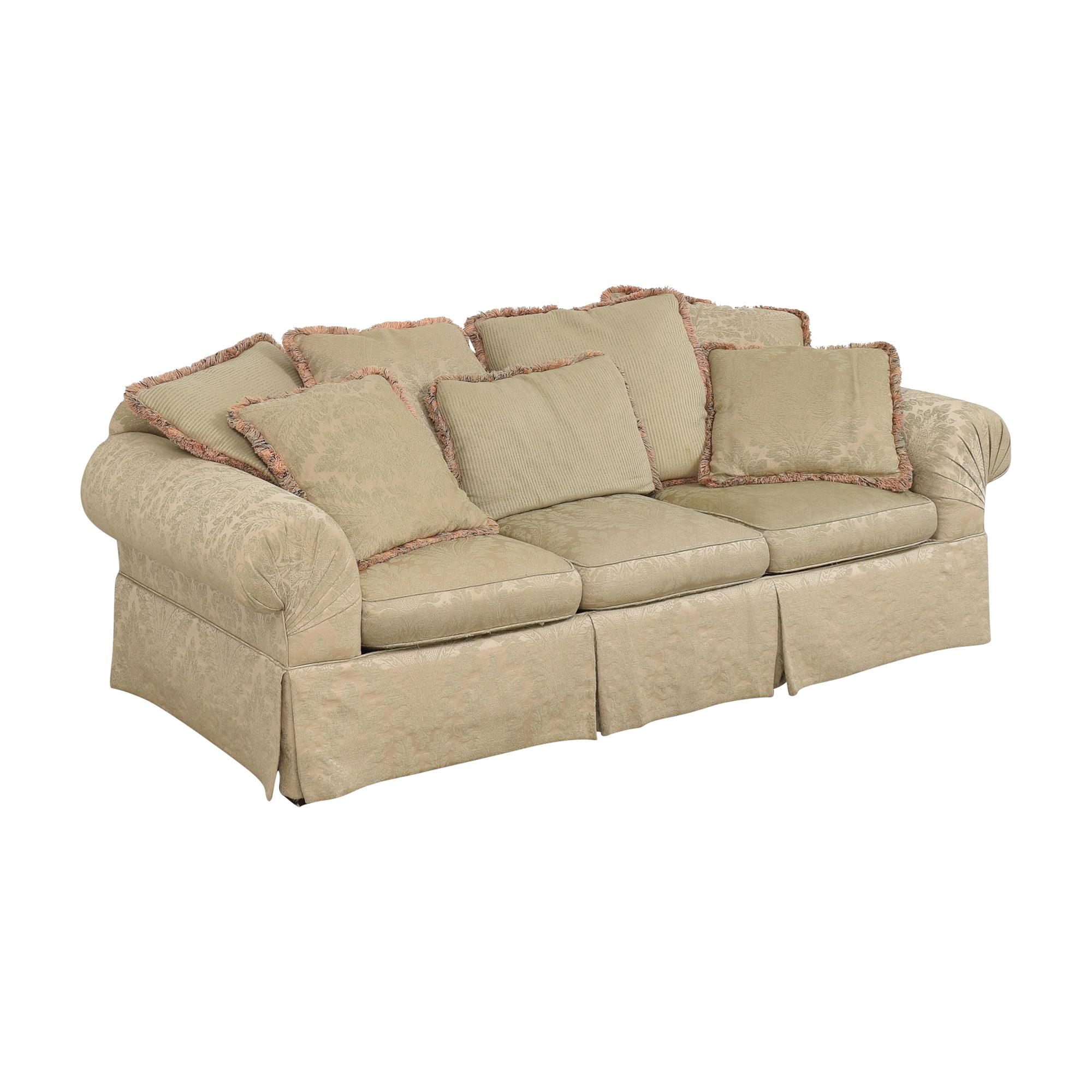 Lexington Furniture Lexington Furniture Skirted Roll Arm Sofa nj